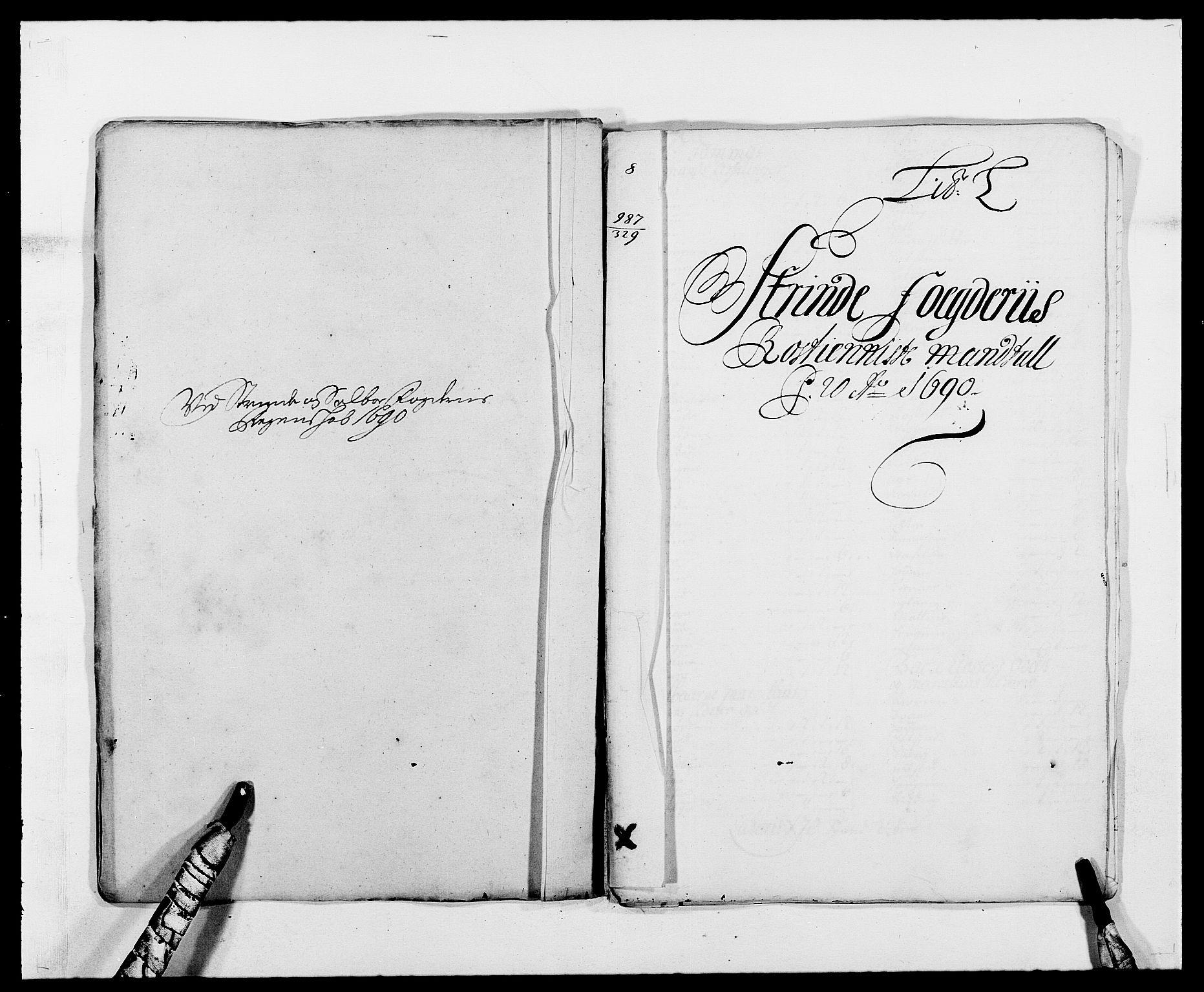 RA, Rentekammeret inntil 1814, Reviderte regnskaper, Fogderegnskap, R61/L4102: Fogderegnskap Strinda og Selbu, 1689-1690, s. 233
