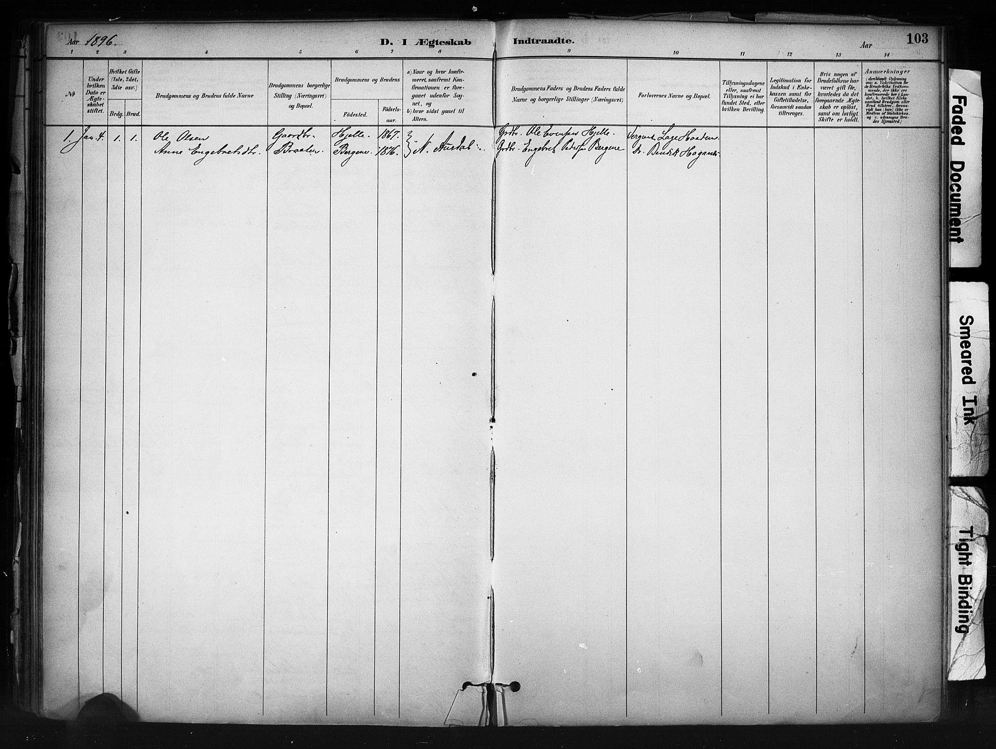 SAH, Nord-Aurdal prestekontor, Ministerialbok nr. 13, 1883-1895, s. 103