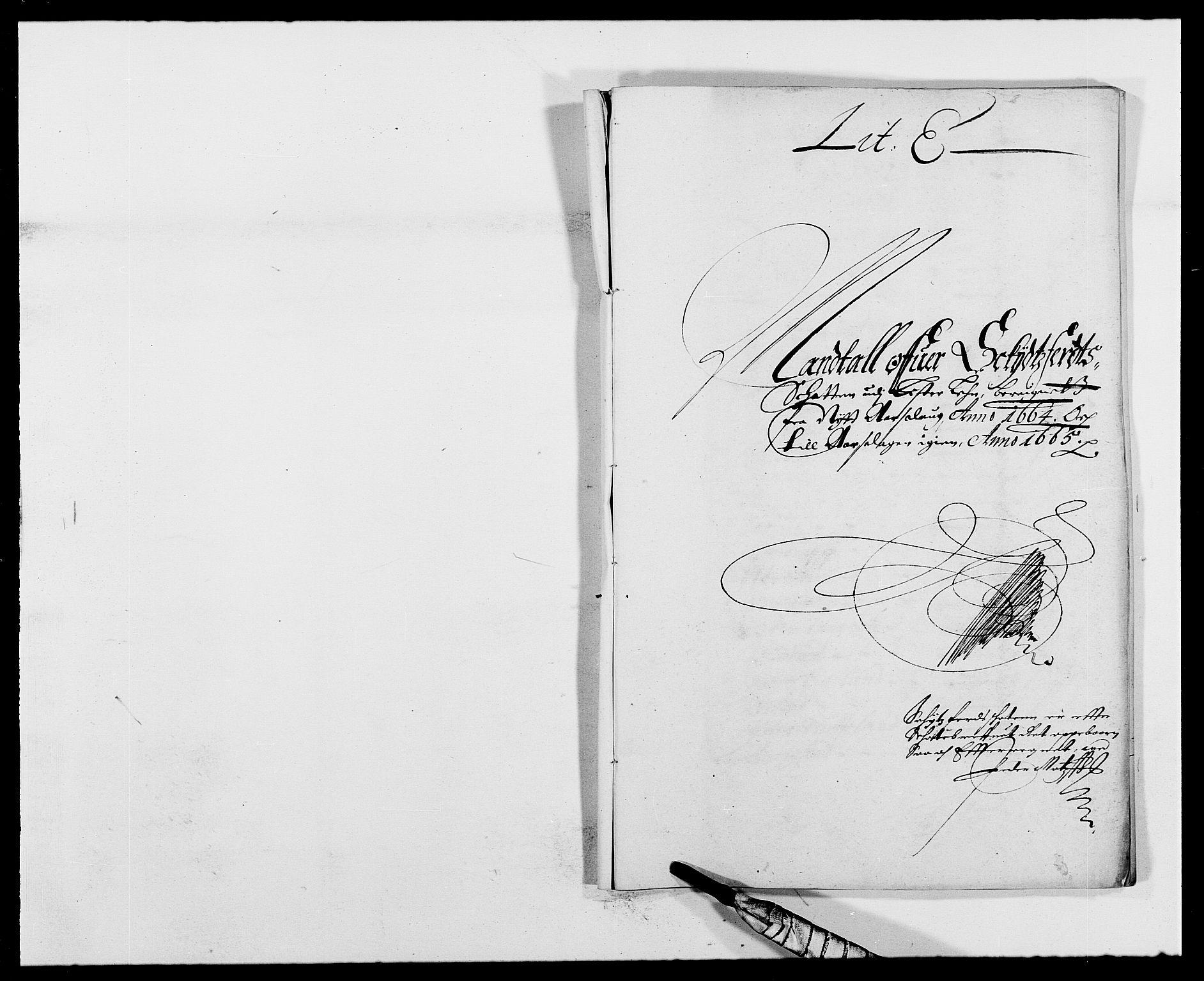 RA, Rentekammeret inntil 1814, Reviderte regnskaper, Fogderegnskap, R41/L2523: Fogderegnskap Lista, 1663-1664, s. 301