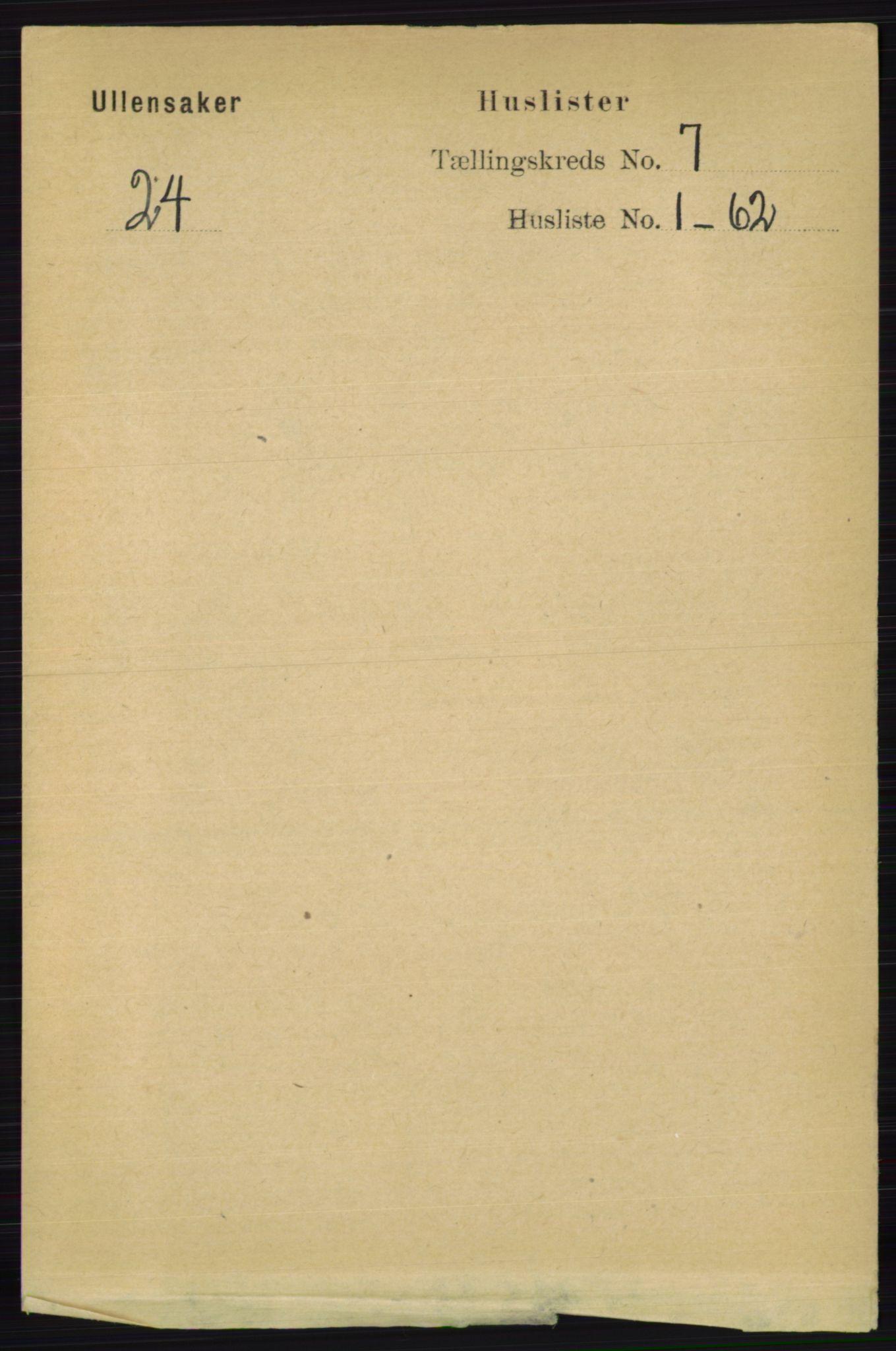 RA, Folketelling 1891 for 0235 Ullensaker herred, 1891, s. 3001