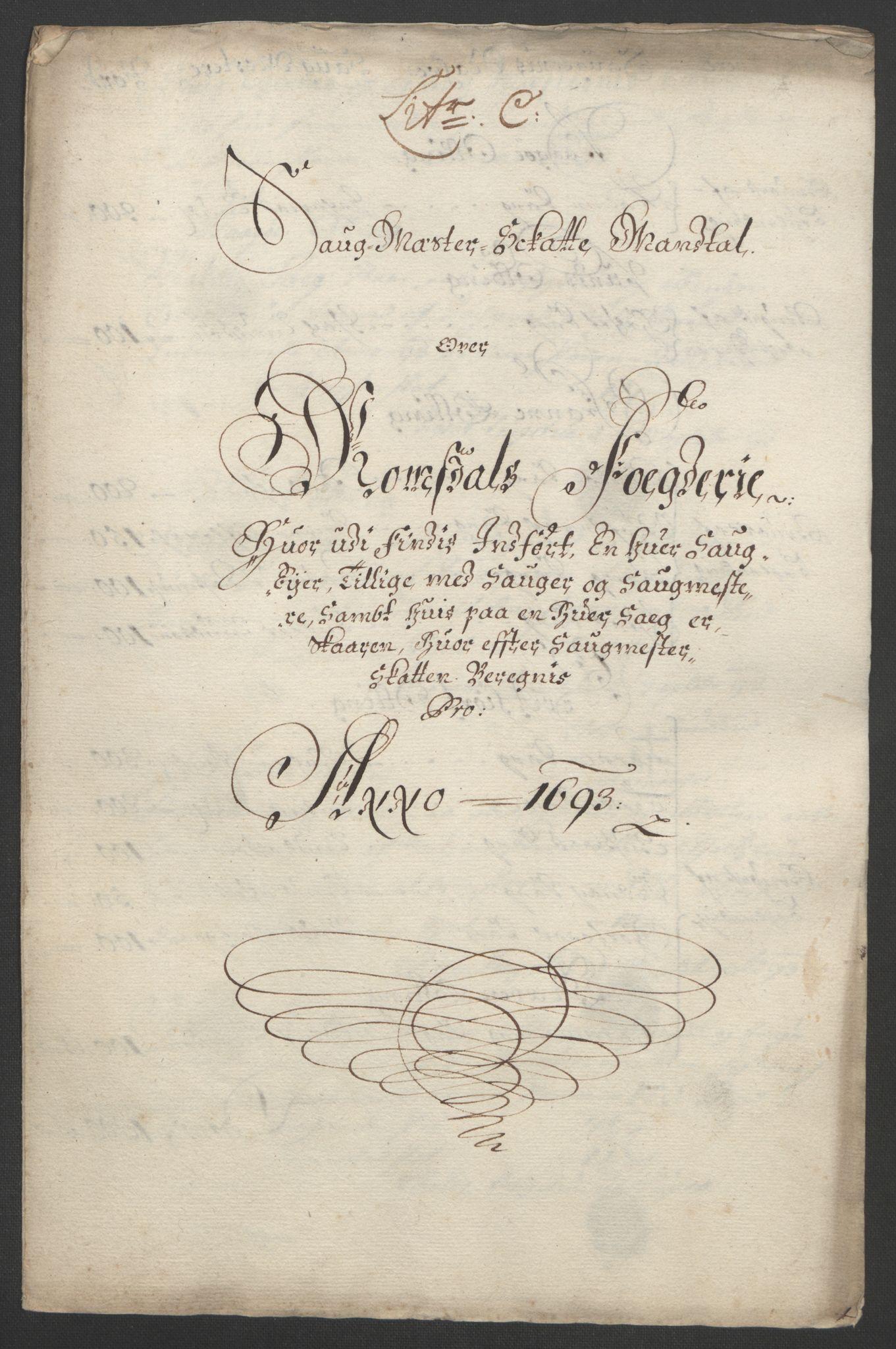 RA, Rentekammeret inntil 1814, Reviderte regnskaper, Fogderegnskap, R55/L3651: Fogderegnskap Romsdal, 1693-1694, s. 67