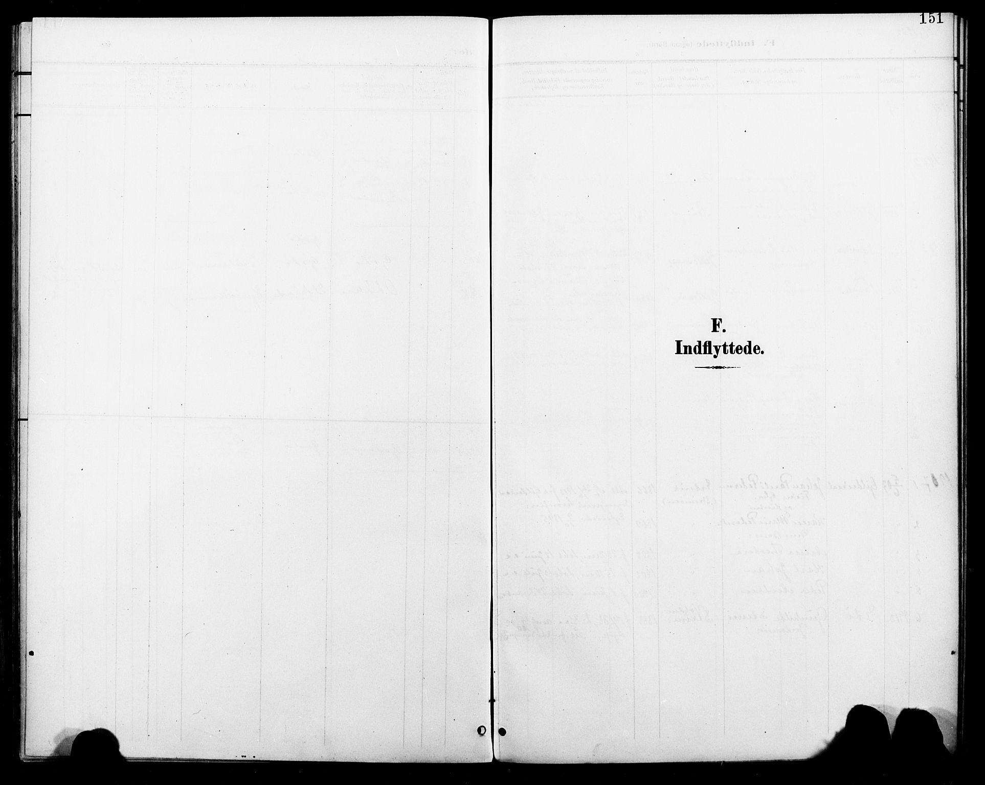 SAT, Ministerialprotokoller, klokkerbøker og fødselsregistre - Nordland, 804/L0088: Klokkerbok nr. 804C01, 1901-1917, s. 151