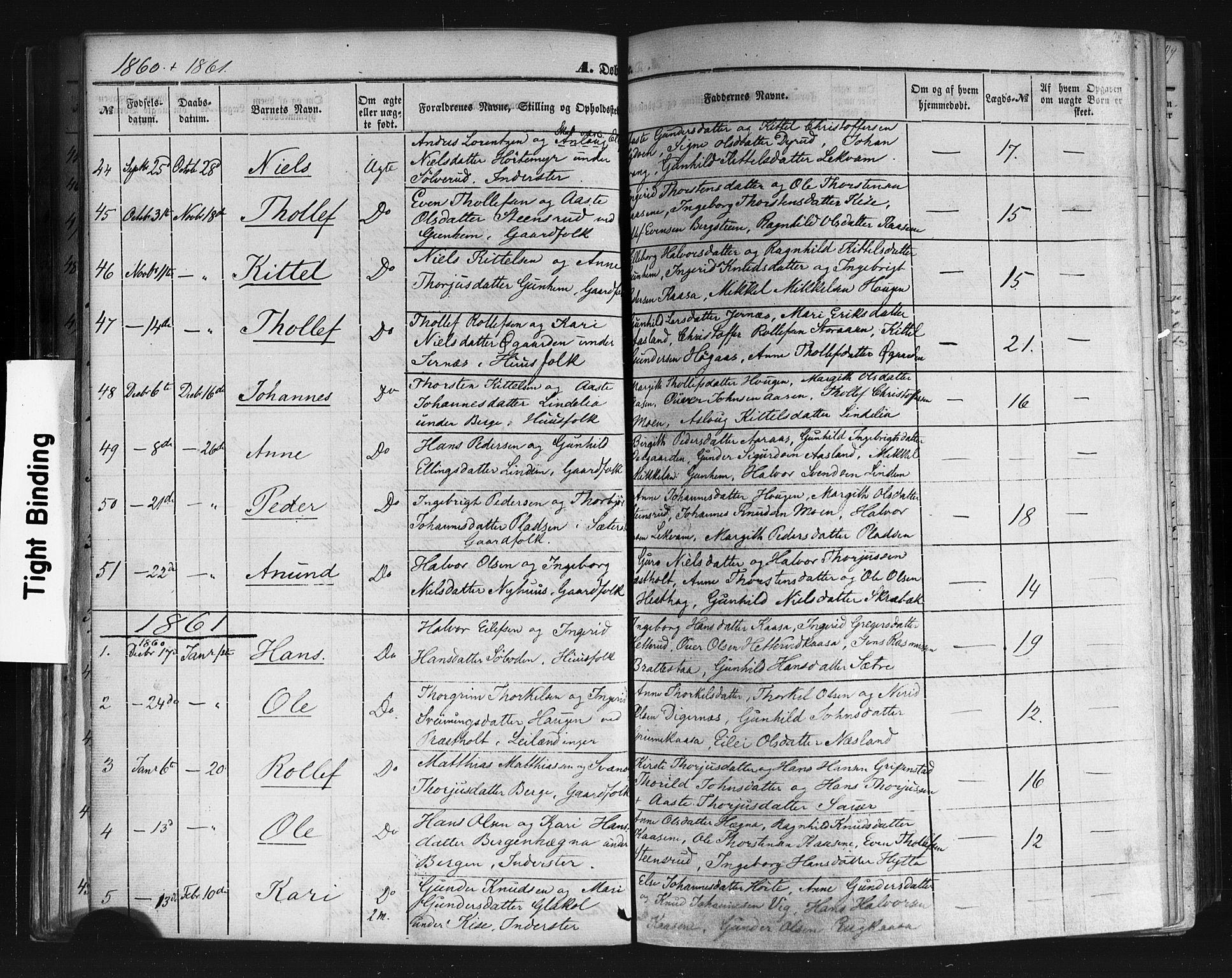 SAKO, Sauherad kirkebøker, F/Fb/L0001: Ministerialbok nr. II 1, 1851-1877, s. 35