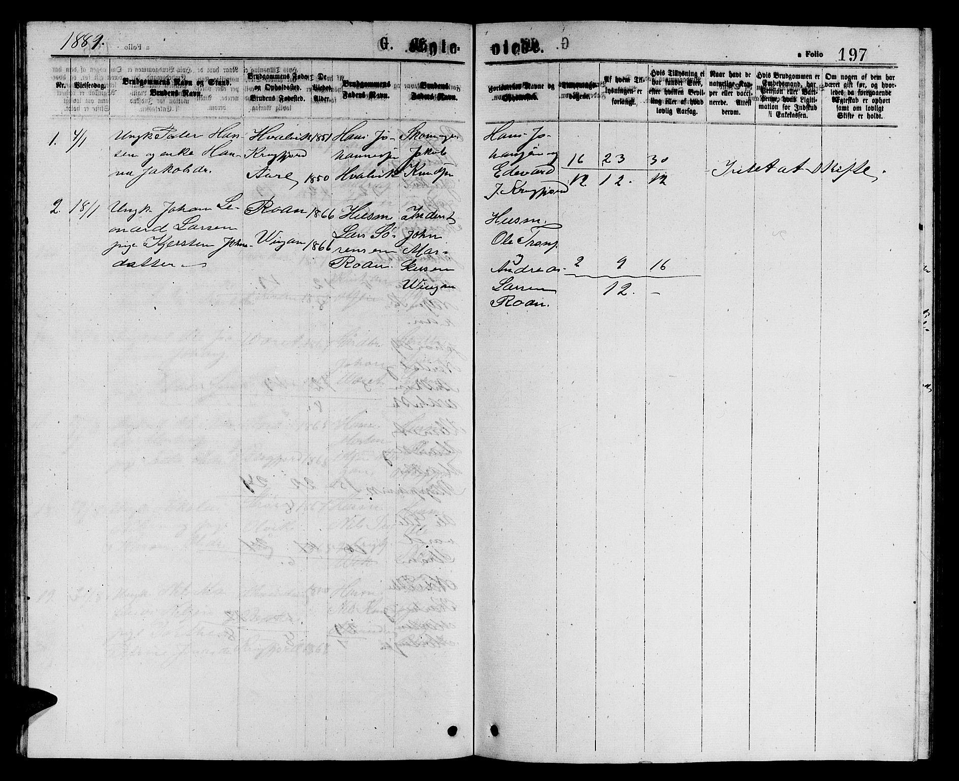 SAT, Ministerialprotokoller, klokkerbøker og fødselsregistre - Sør-Trøndelag, 657/L0715: Klokkerbok nr. 657C02, 1873-1888, s. 197
