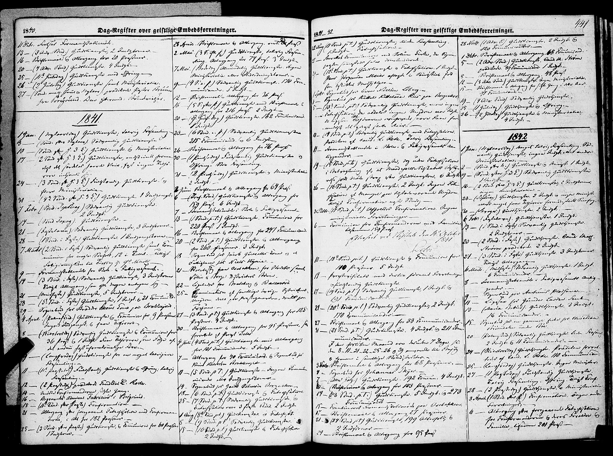 SAKO, Gjerpen kirkebøker, F/Fa/L0007b: Ministerialbok nr. 7B, 1834-1857, s. 441