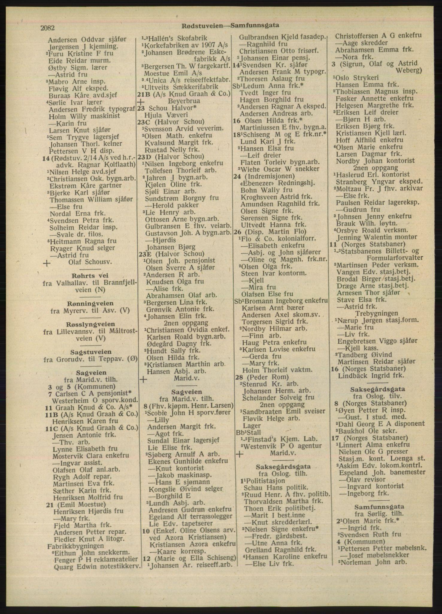 PUBL, Kristiania/Oslo adressebok, 1948, s. 2082
