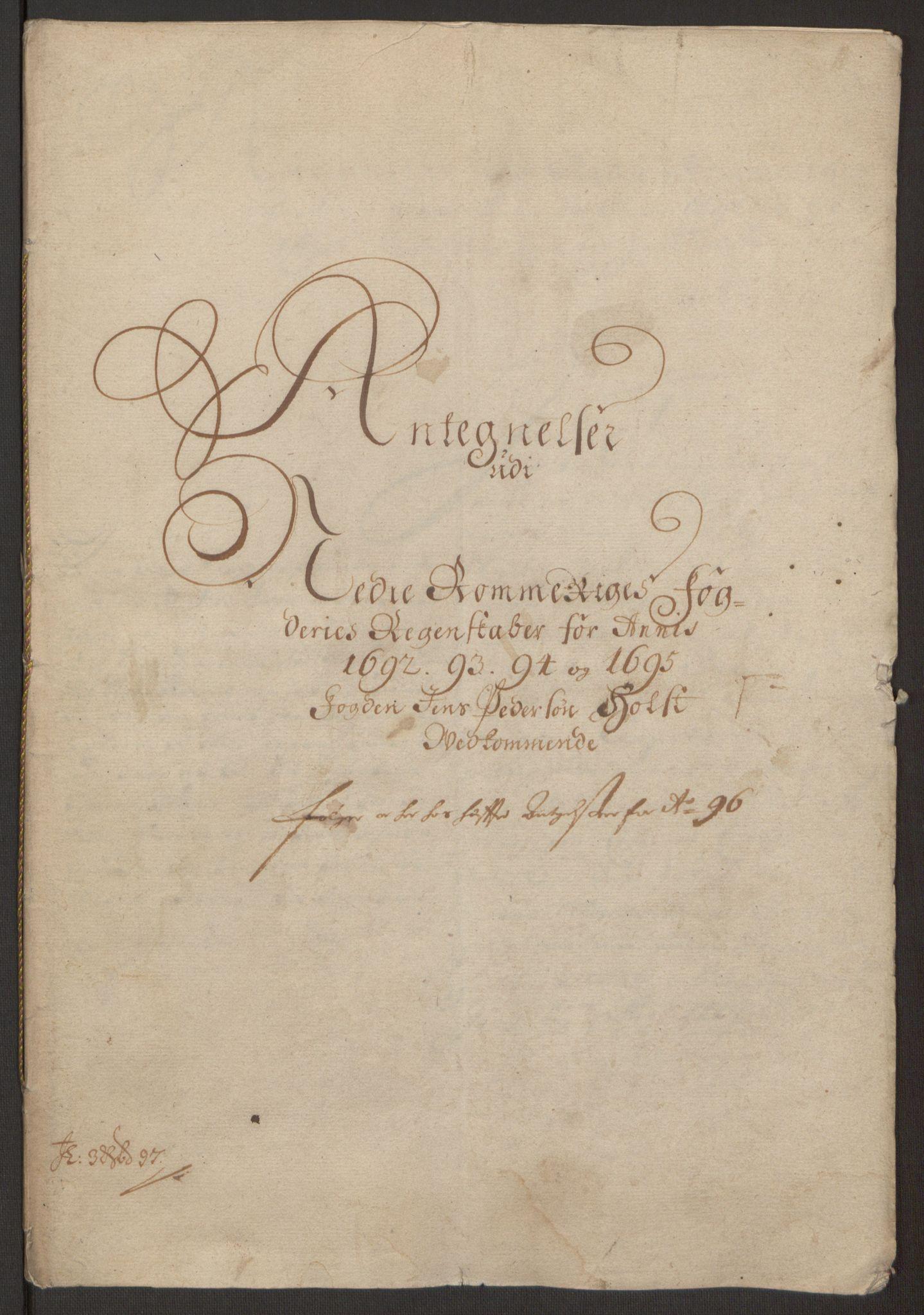 RA, Rentekammeret inntil 1814, Reviderte regnskaper, Fogderegnskap, R11/L0579: Fogderegnskap Nedre Romerike, 1694-1695, s. 427