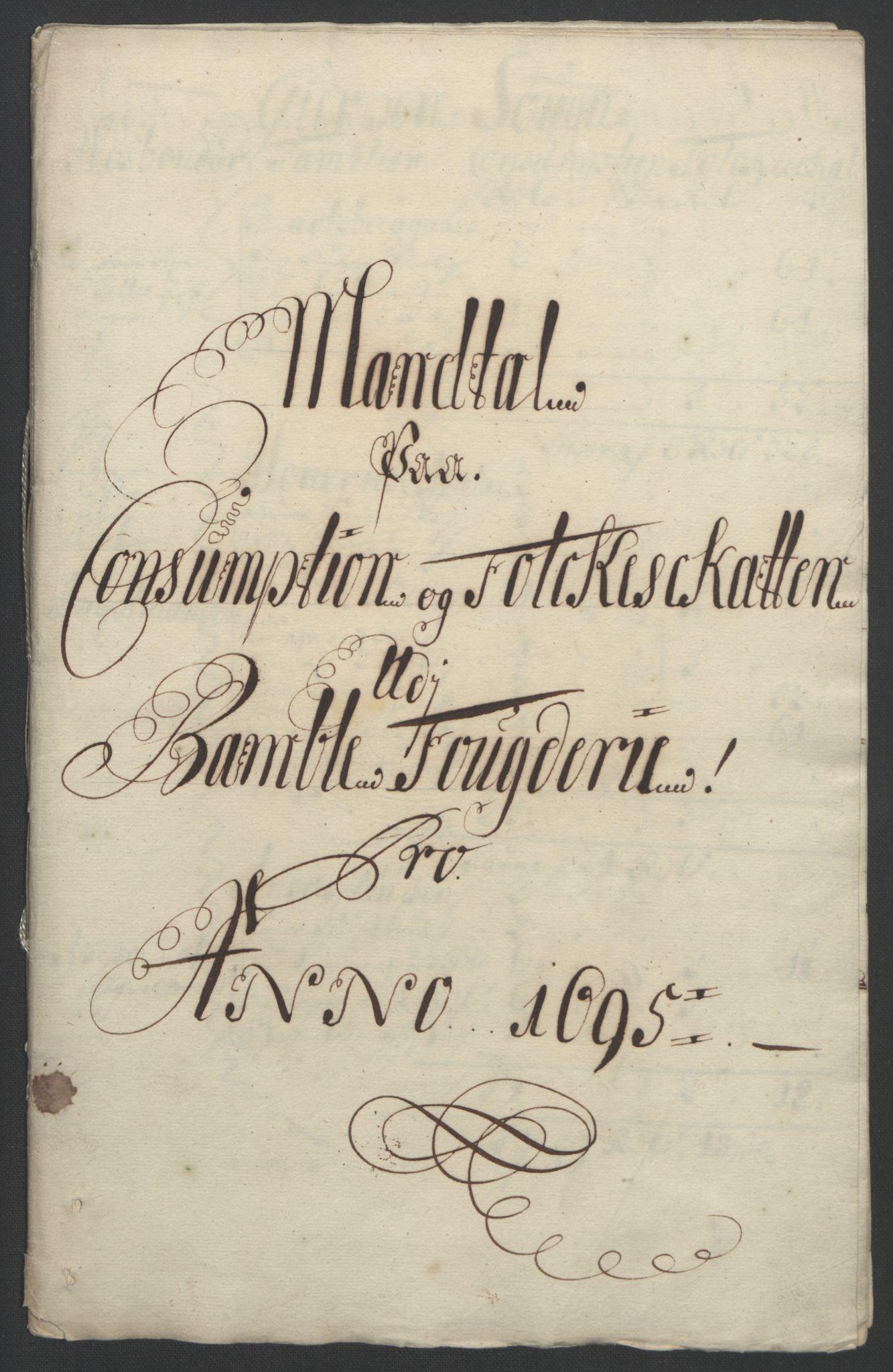 RA, Rentekammeret inntil 1814, Reviderte regnskaper, Fogderegnskap, R36/L2093: Fogderegnskap Øvre og Nedre Telemark og Bamble, 1695, s. 453