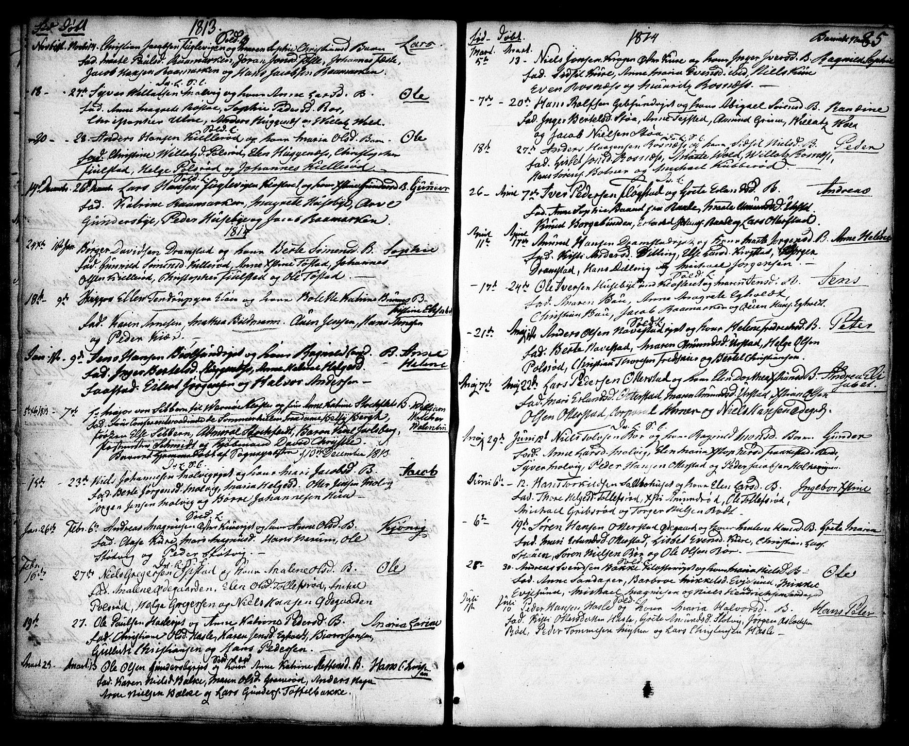 SAO, Rygge prestekontor Kirkebøker, F/Fa/L0002: Ministerialbok nr. 2, 1771-1814, s. 85