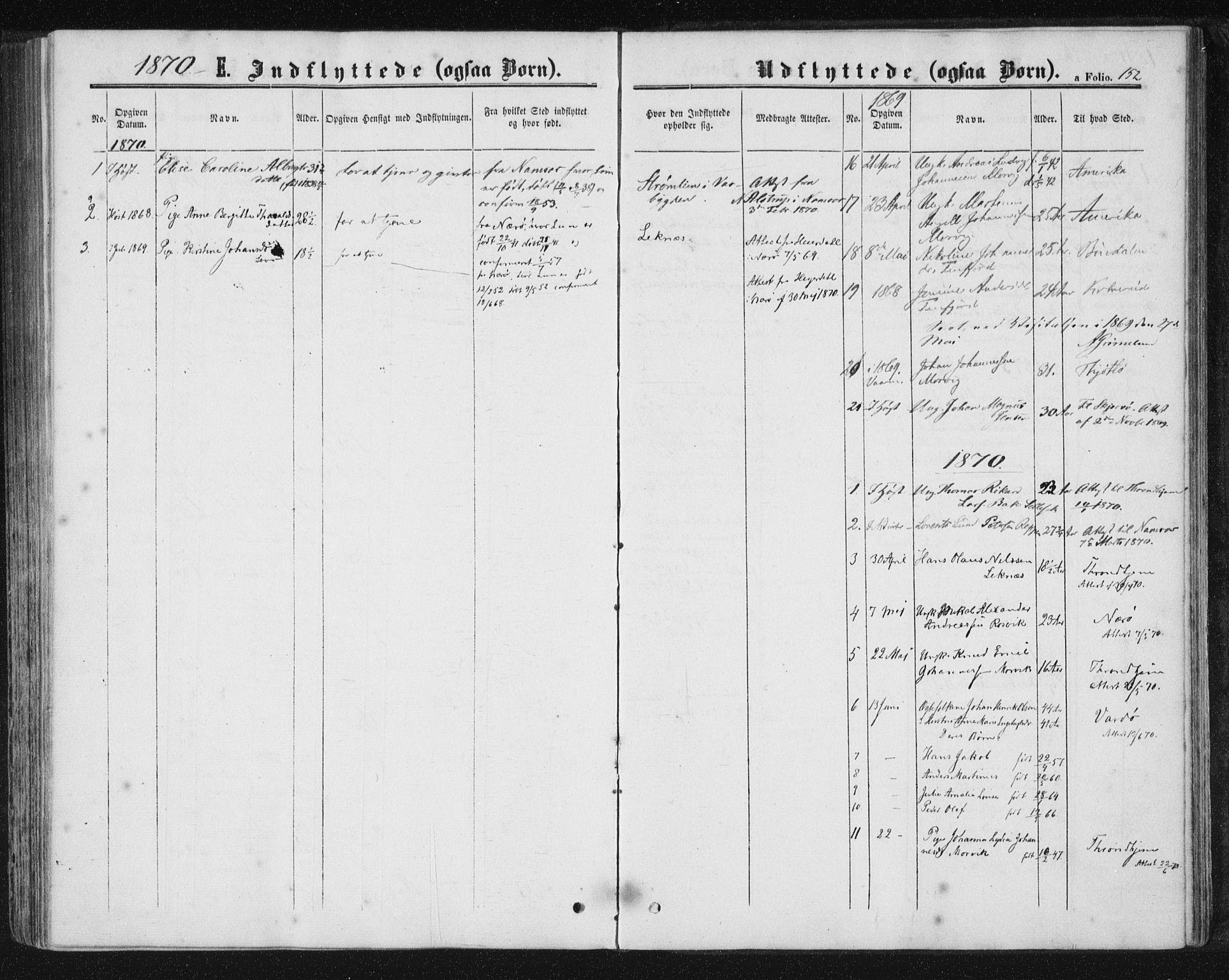 SAT, Ministerialprotokoller, klokkerbøker og fødselsregistre - Nord-Trøndelag, 788/L0696: Ministerialbok nr. 788A03, 1863-1877, s. 152
