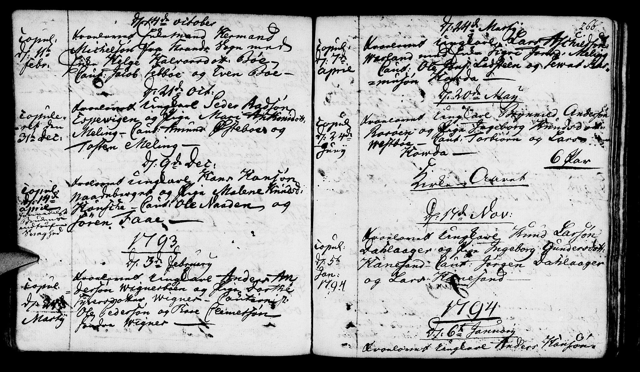 SAST, Finnøy sokneprestkontor, H/Ha/Haa/L0005: Ministerialbok nr. A 5, 1773-1816, s. 266