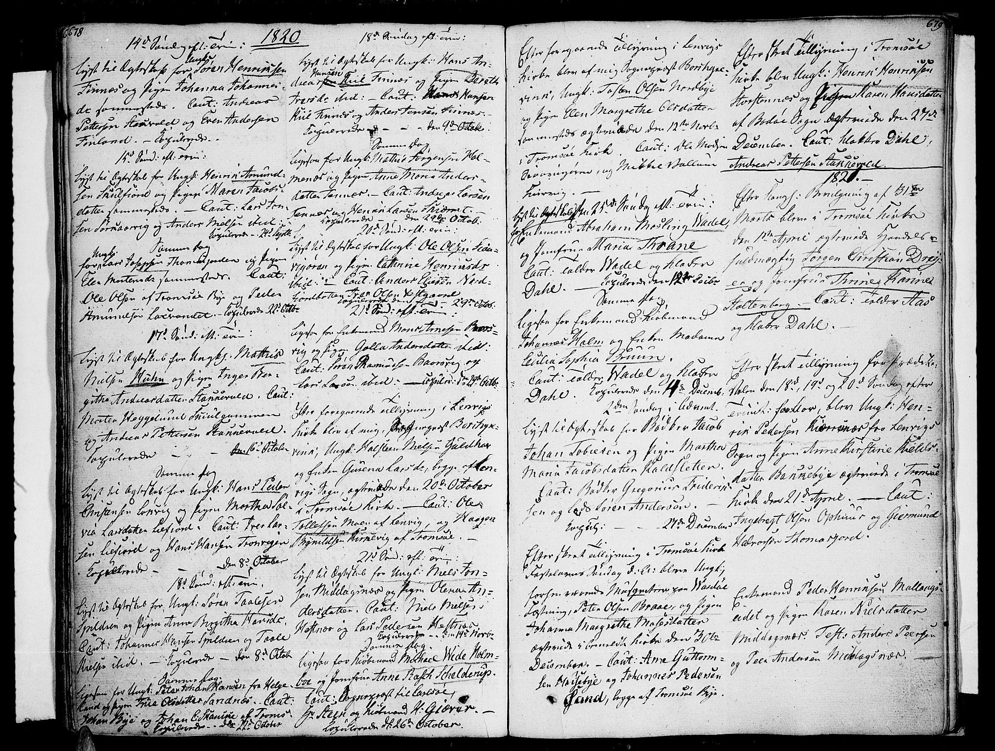 SATØ, Tromsø sokneprestkontor/stiftsprosti/domprosti, G/Ga/L0006kirke: Ministerialbok nr. 6, 1806-1821, s. 678-679