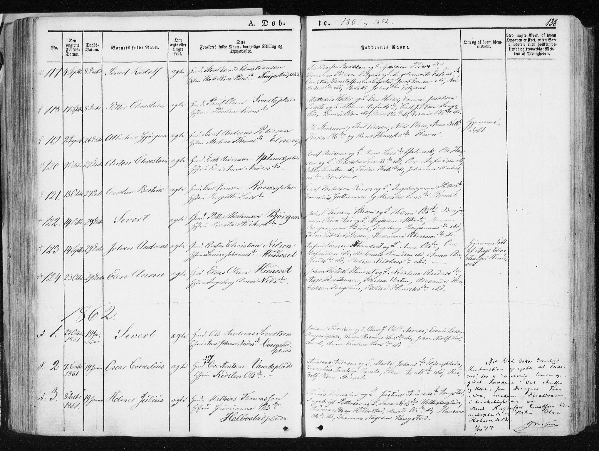 SAT, Ministerialprotokoller, klokkerbøker og fødselsregistre - Nord-Trøndelag, 741/L0393: Ministerialbok nr. 741A07, 1849-1863, s. 138