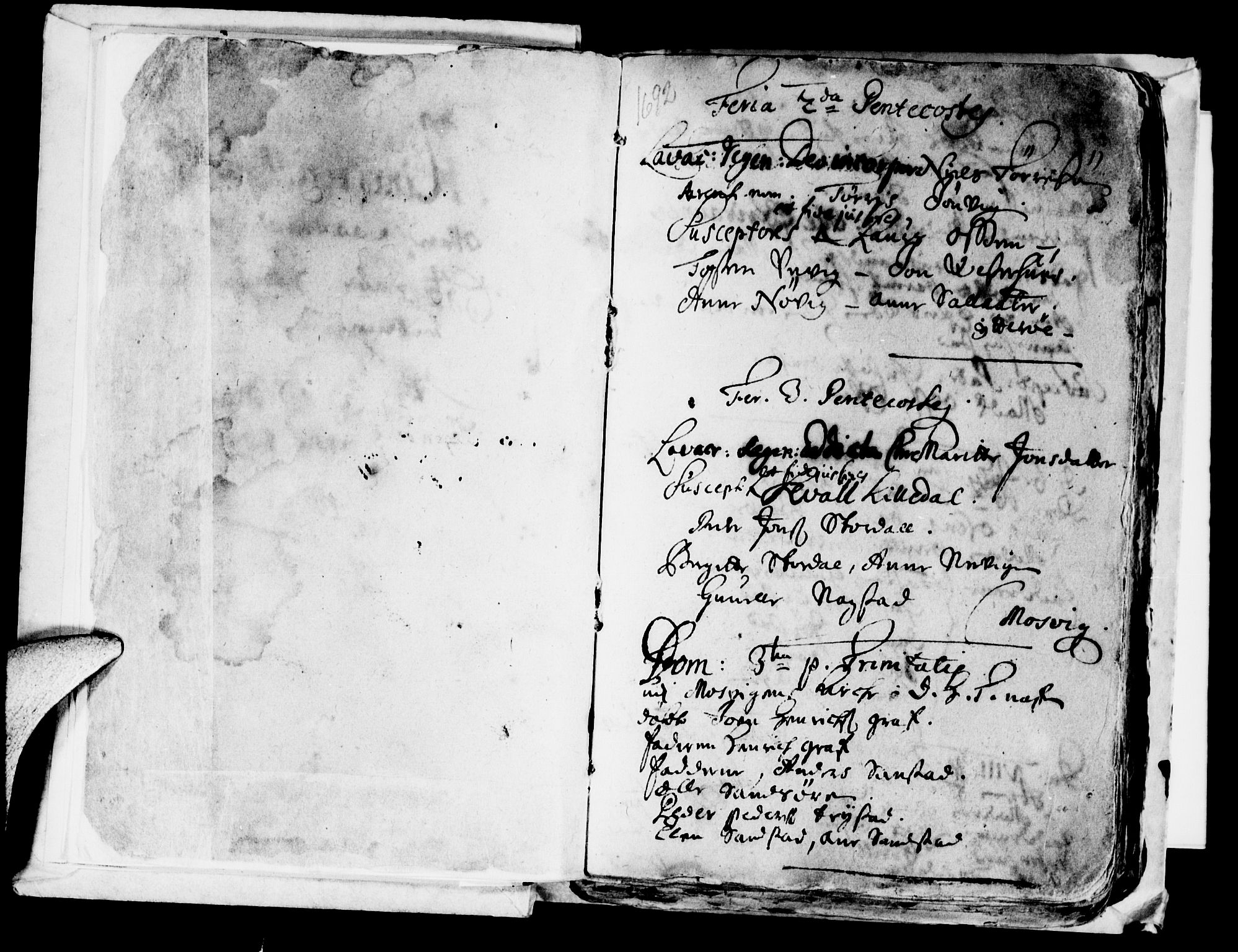 SAT, Ministerialprotokoller, klokkerbøker og fødselsregistre - Nord-Trøndelag, 722/L0214: Ministerialbok nr. 722A01, 1692-1718, s. 2