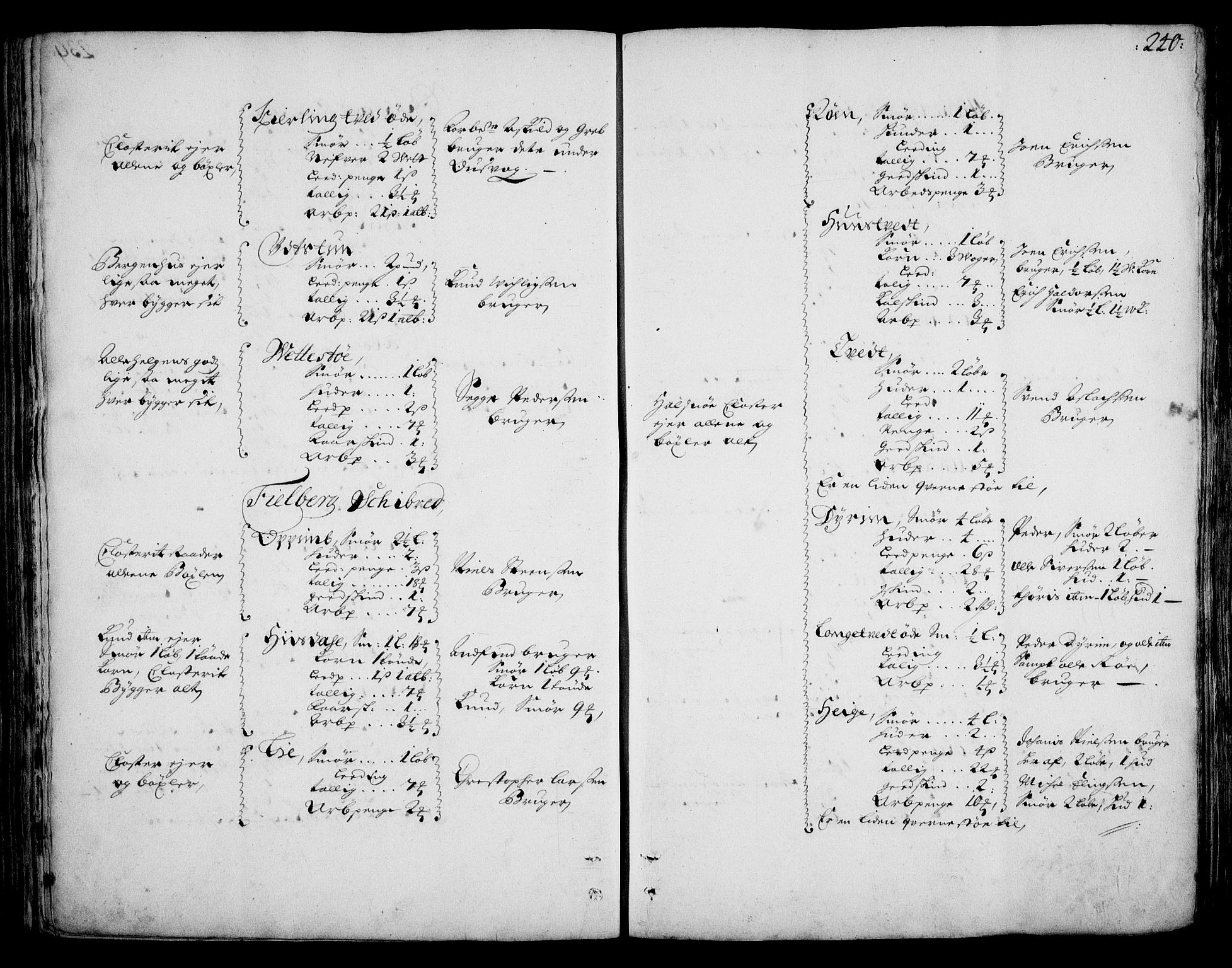 RA, Rentekammeret inntil 1814, Realistisk ordnet avdeling, On/L0002: [Jj 3]: Besiktigelsesforretninger over Halsnøy klosters gods, 1659-1703, s. 239b-240a