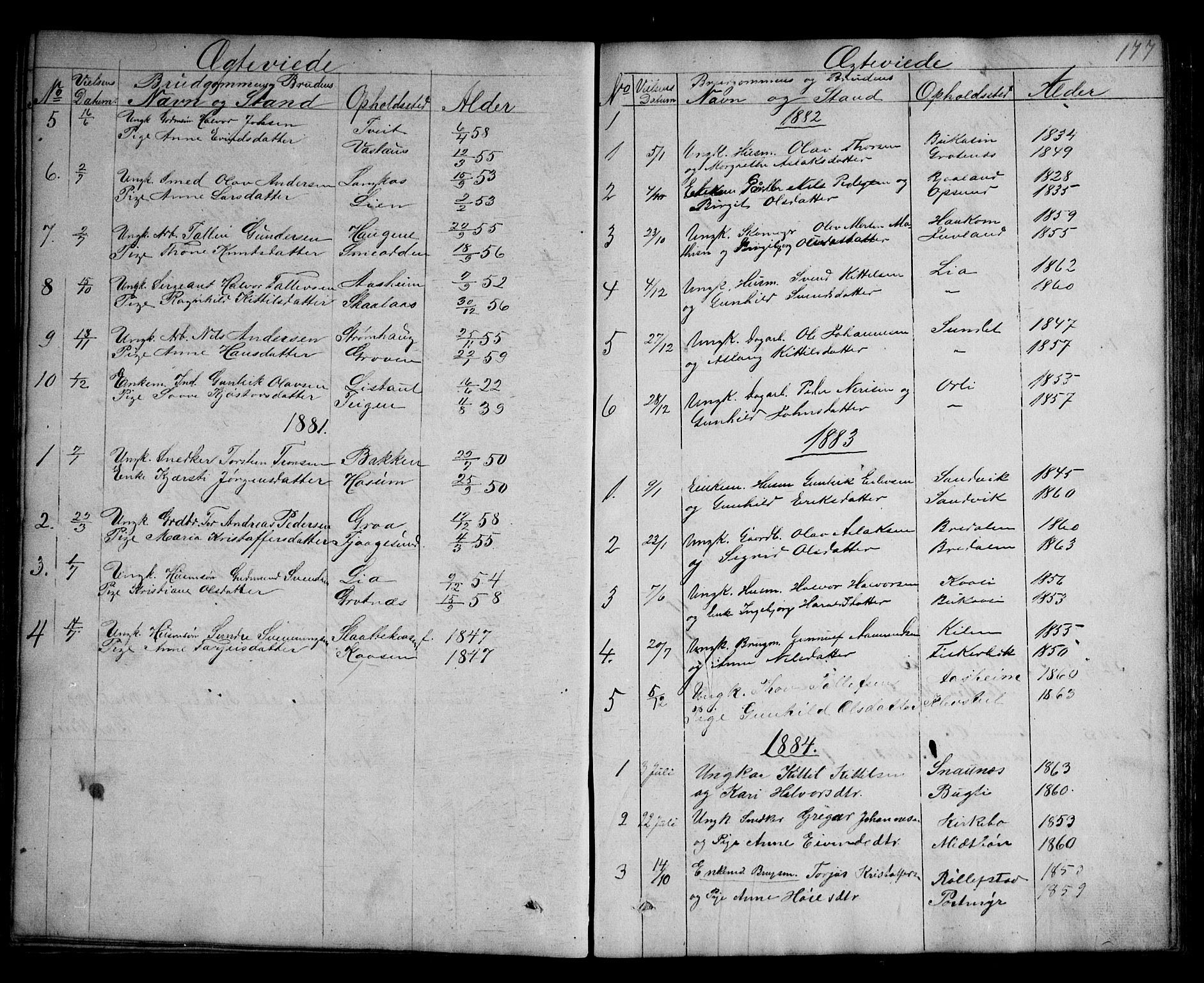 SAKO, Kviteseid kirkebøker, G/Ga/L0001: Klokkerbok nr. I 1, 1850-1893, s. 177