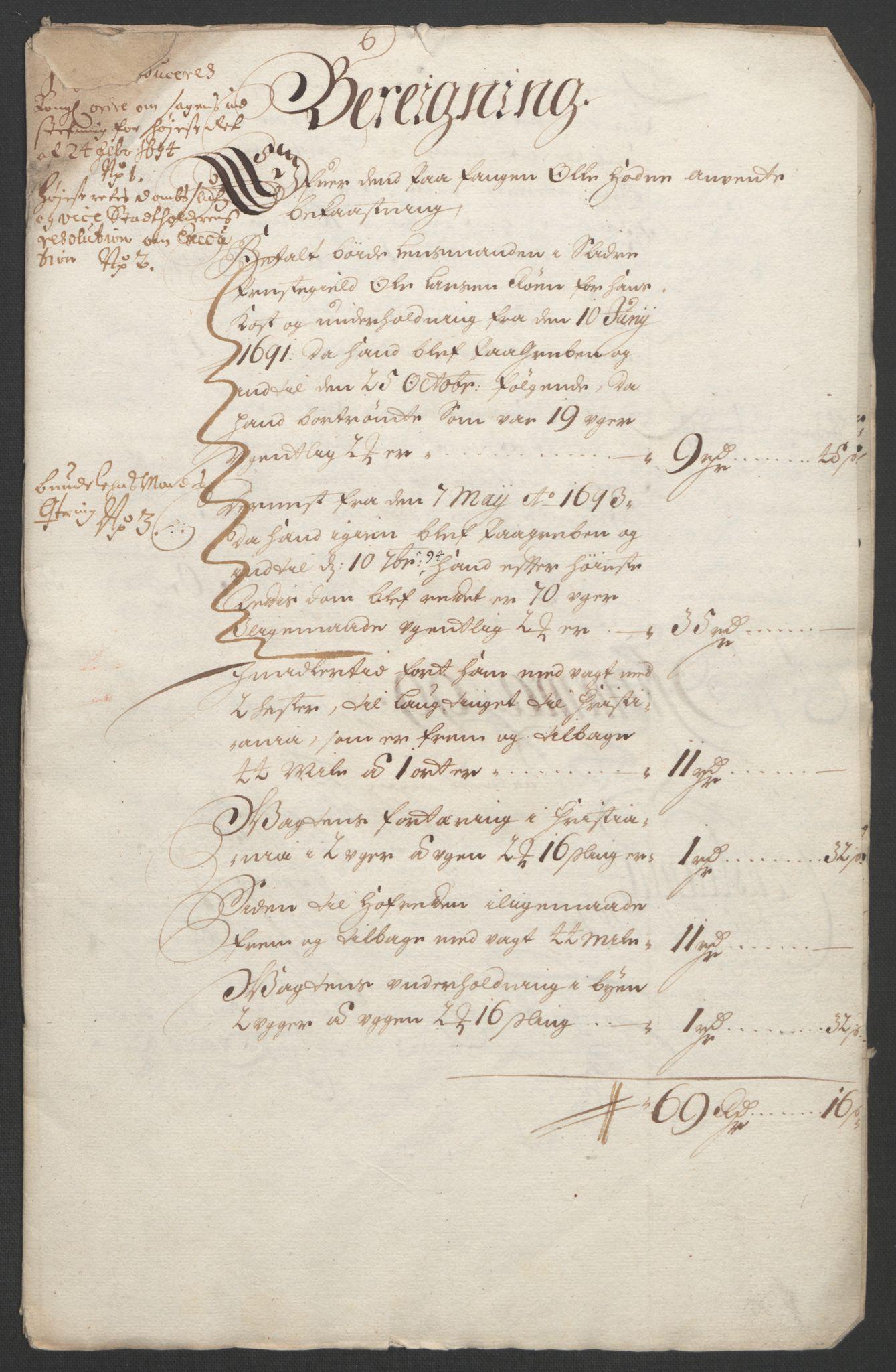 RA, Rentekammeret inntil 1814, Reviderte regnskaper, Fogderegnskap, R18/L1292: Fogderegnskap Hadeland, Toten og Valdres, 1693-1694, s. 455