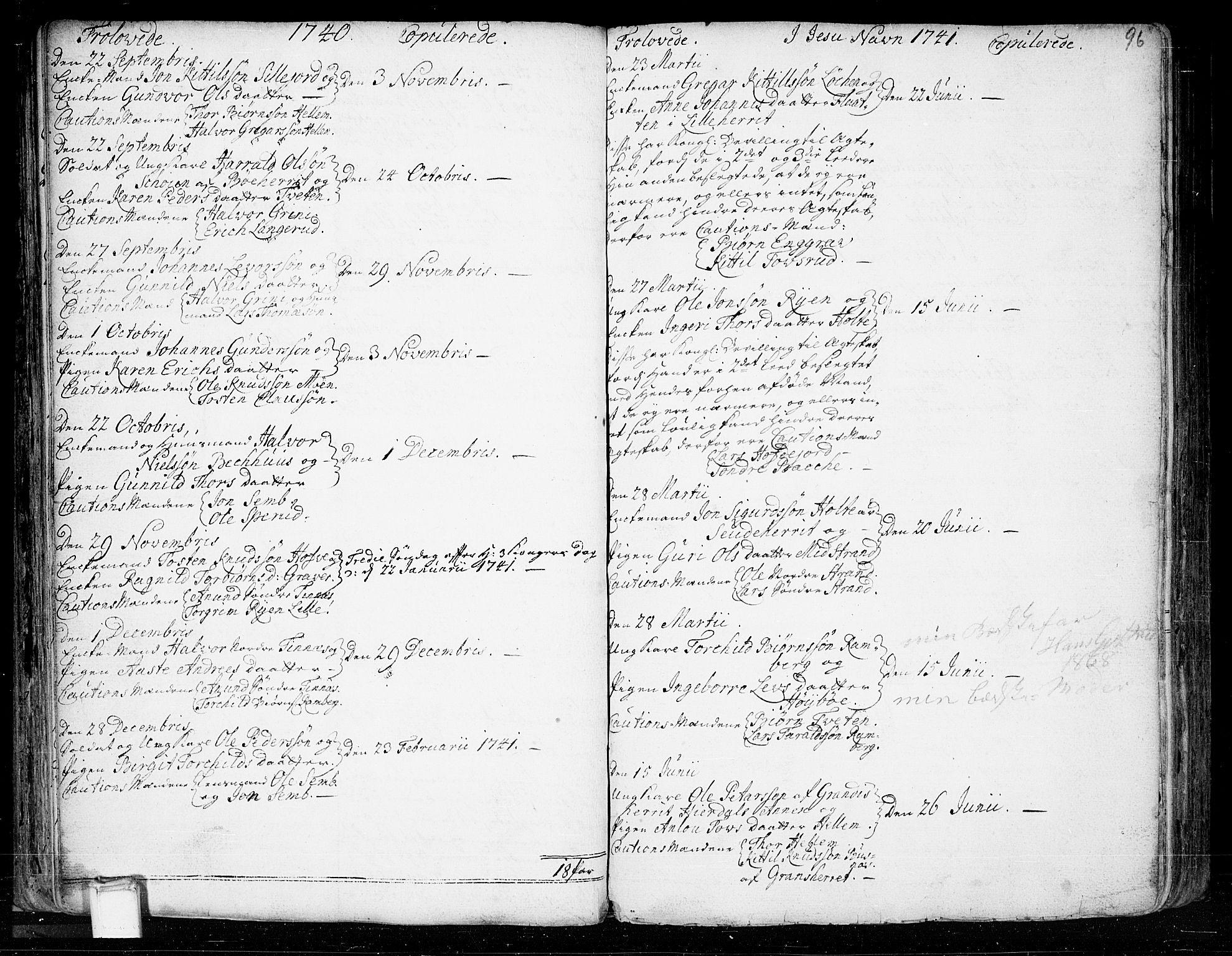 SAKO, Heddal kirkebøker, F/Fa/L0003: Ministerialbok nr. I 3, 1723-1783, s. 96