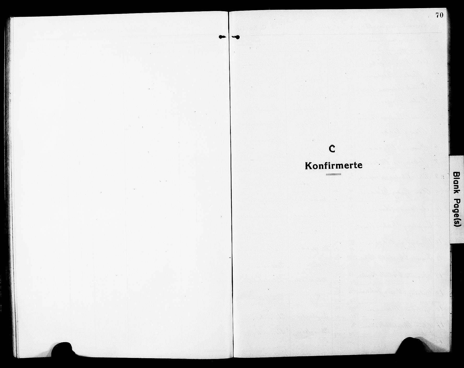 SAT, Ministerialprotokoller, klokkerbøker og fødselsregistre - Nord-Trøndelag, 740/L0382: Klokkerbok nr. 740C03, 1915-1927, s. 70
