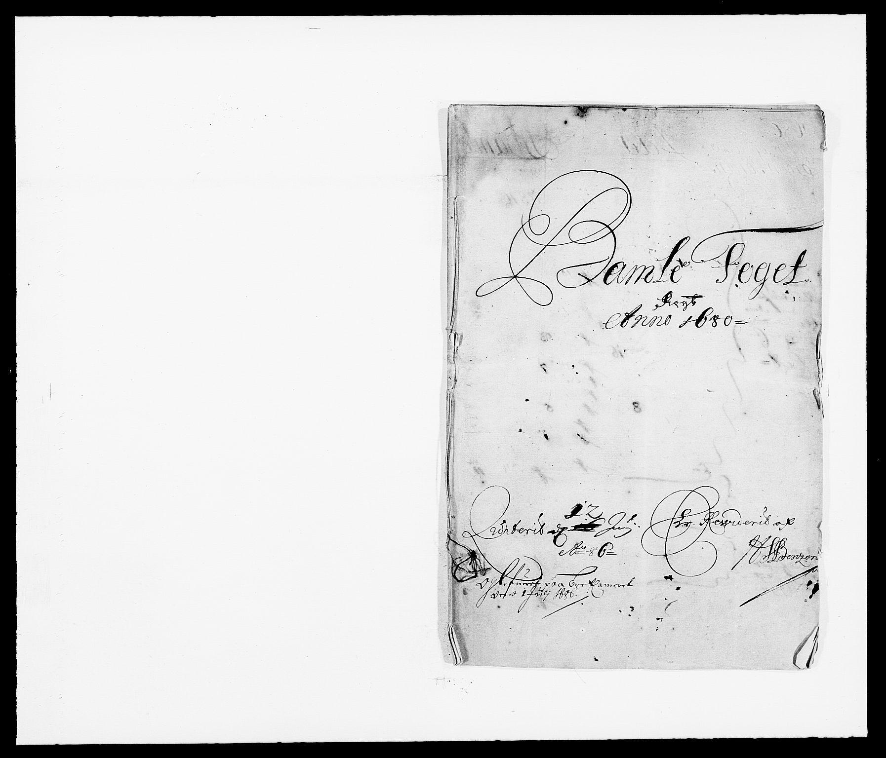 RA, Rentekammeret inntil 1814, Reviderte regnskaper, Fogderegnskap, R34/L2045: Fogderegnskap Bamble, 1680-1681, s. 1