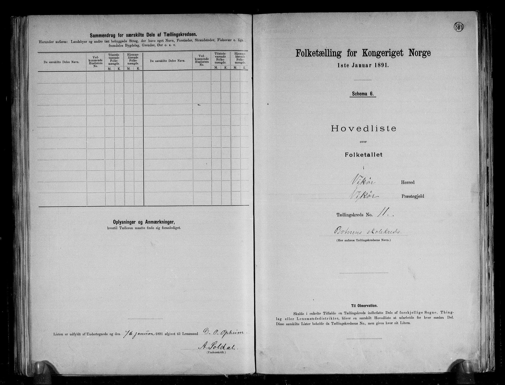 RA, Folketelling 1891 for 1238 Vikør herred, 1891, s. 25