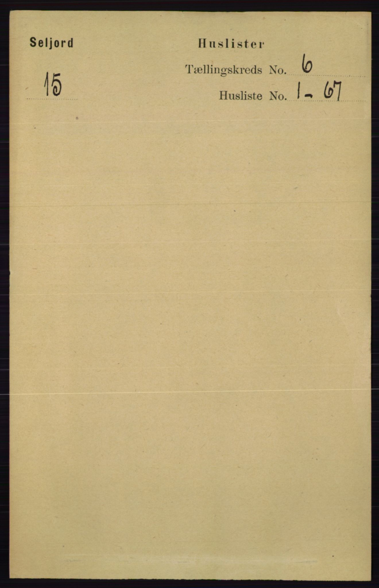 RA, Folketelling 1891 for 0828 Seljord herred, 1891, s. 2138