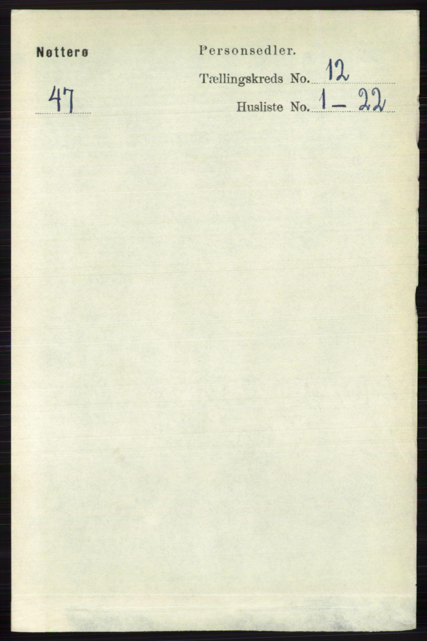 RA, Folketelling 1891 for 0722 Nøtterøy herred, 1891, s. 6380
