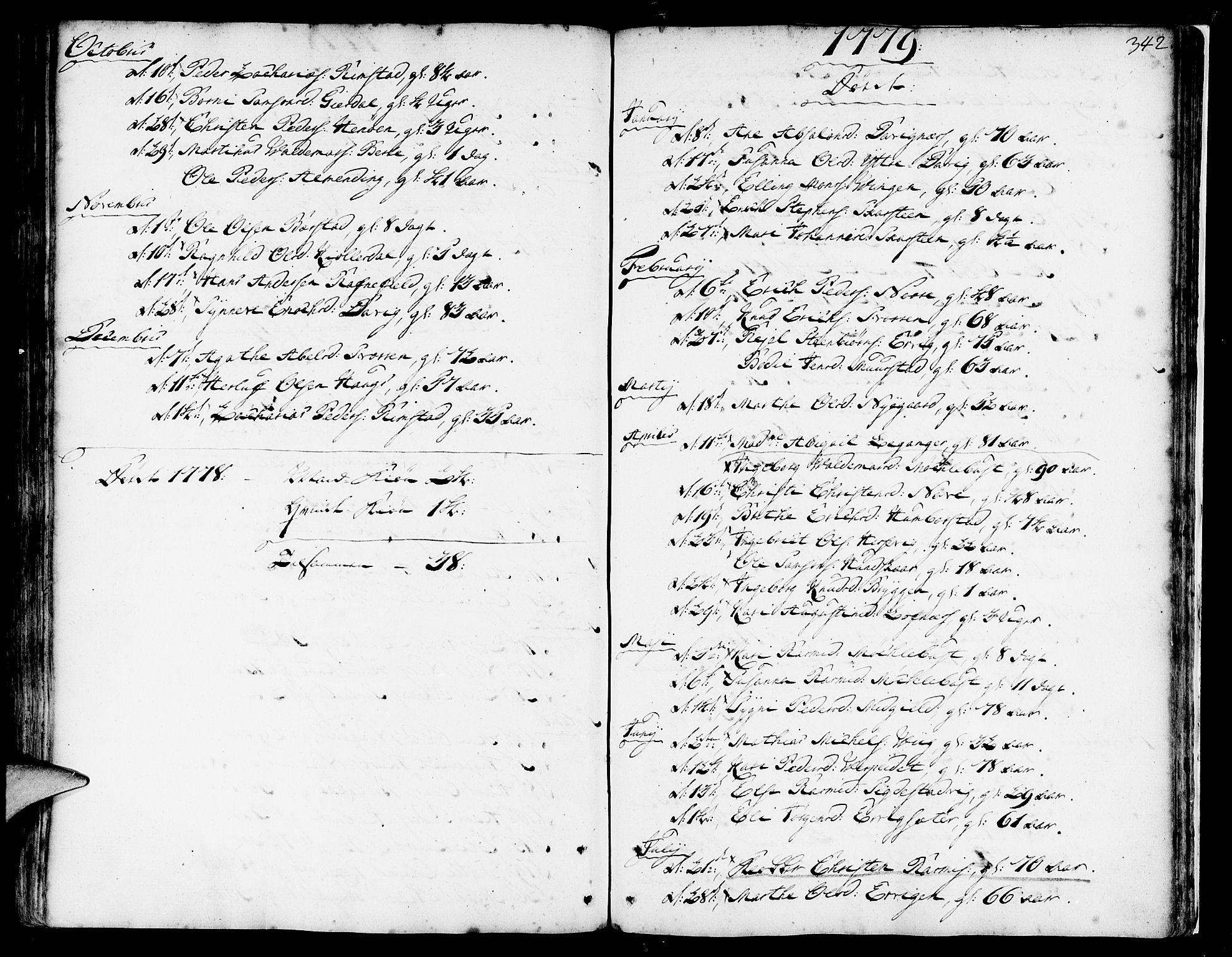 SAB, Davik Sokneprestembete, Ministerialbok nr. A 2, 1742-1816, s. 342