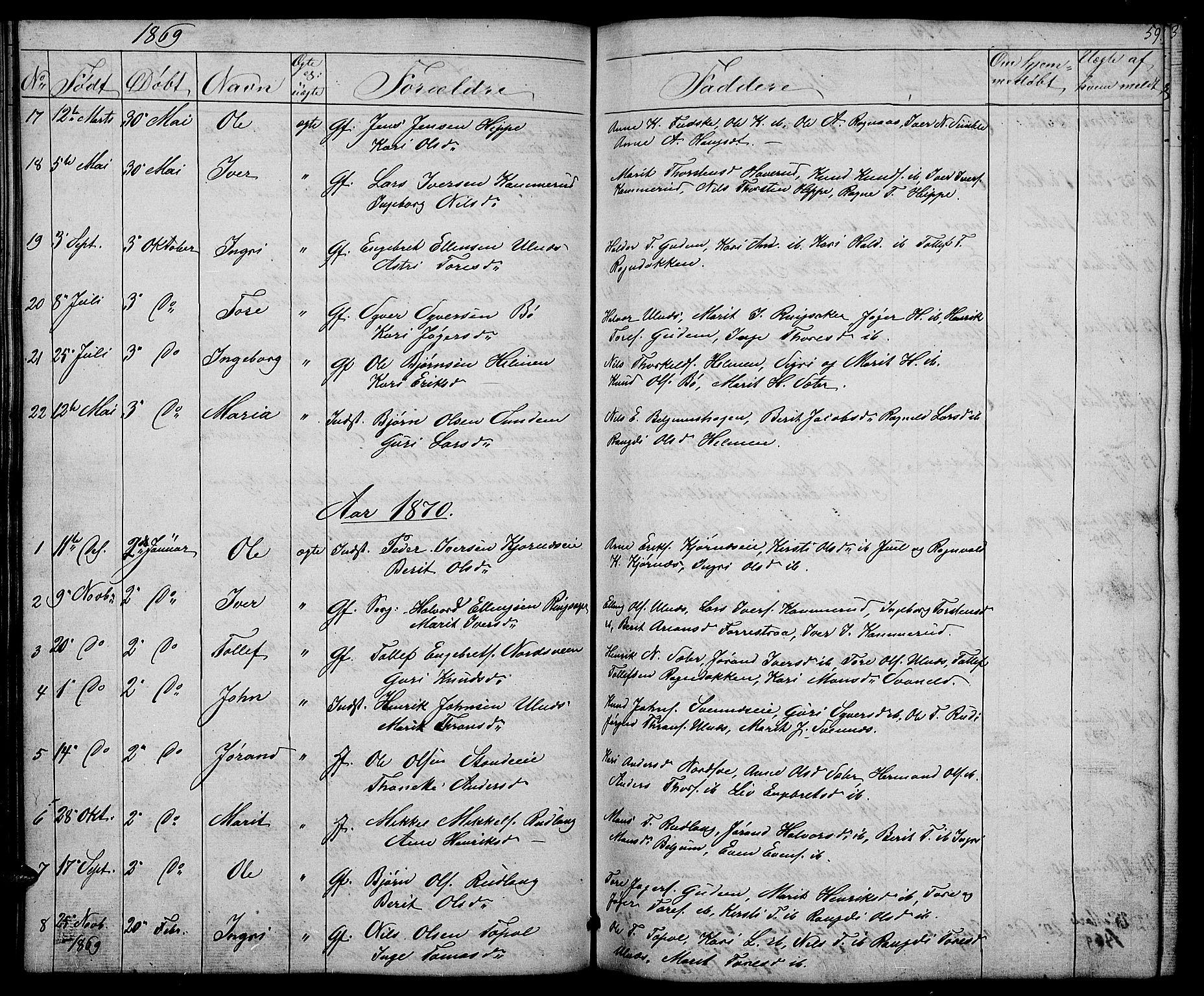 SAH, Nord-Aurdal prestekontor, Klokkerbok nr. 4, 1842-1882, s. 59
