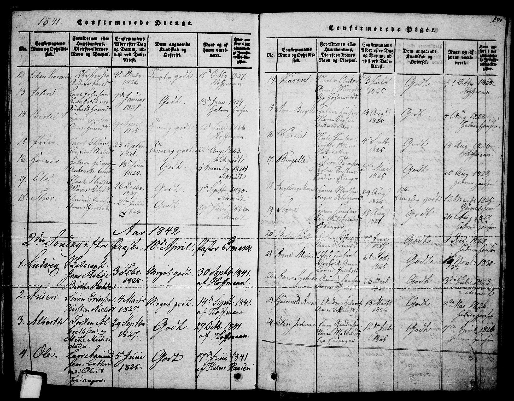 SAKO, Brevik kirkebøker, F/Fa/L0004: Ministerialbok nr. 4, 1814-1846, s. 281