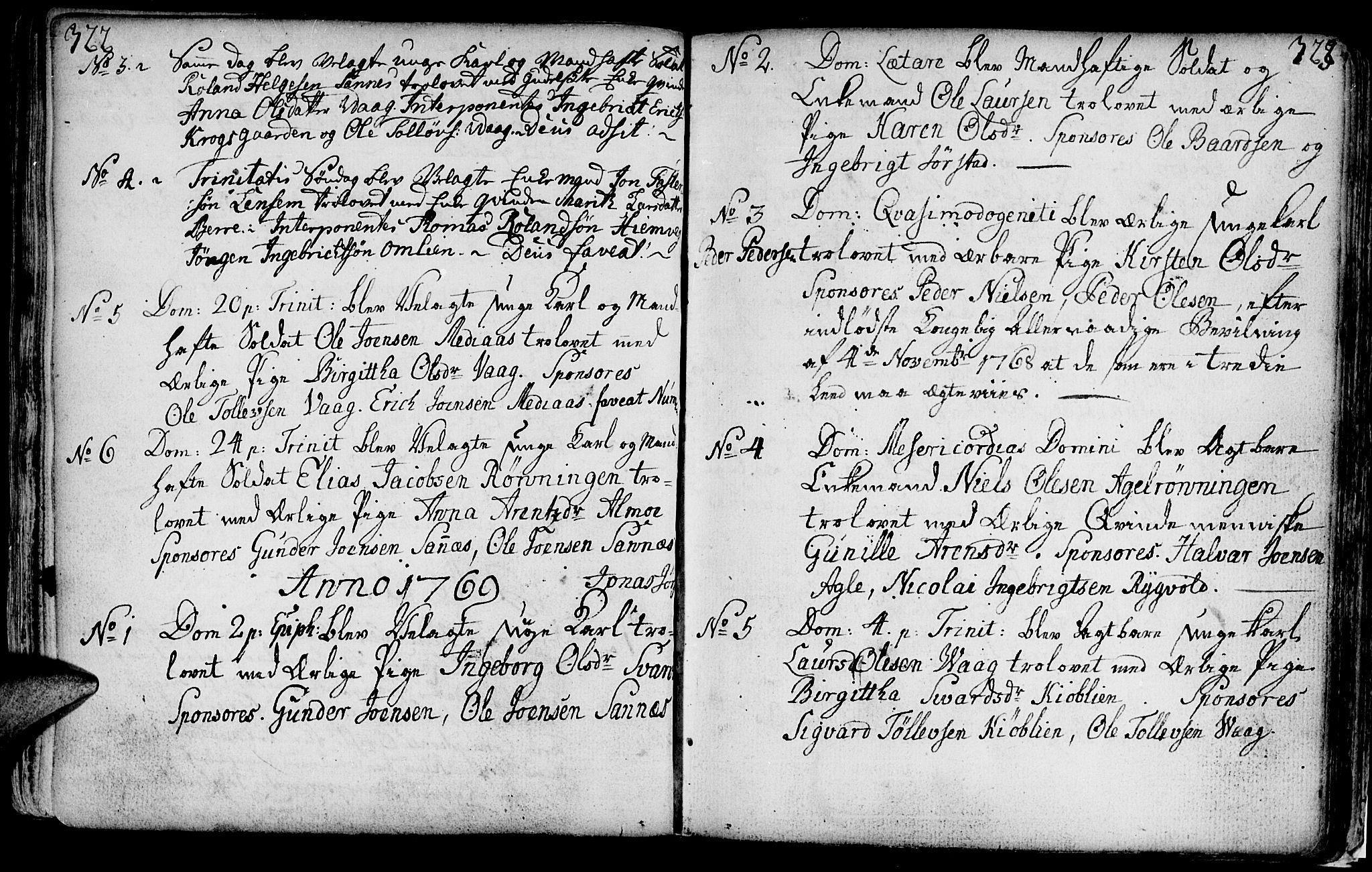 SAT, Ministerialprotokoller, klokkerbøker og fødselsregistre - Nord-Trøndelag, 749/L0467: Ministerialbok nr. 749A01, 1733-1787, s. 322-323