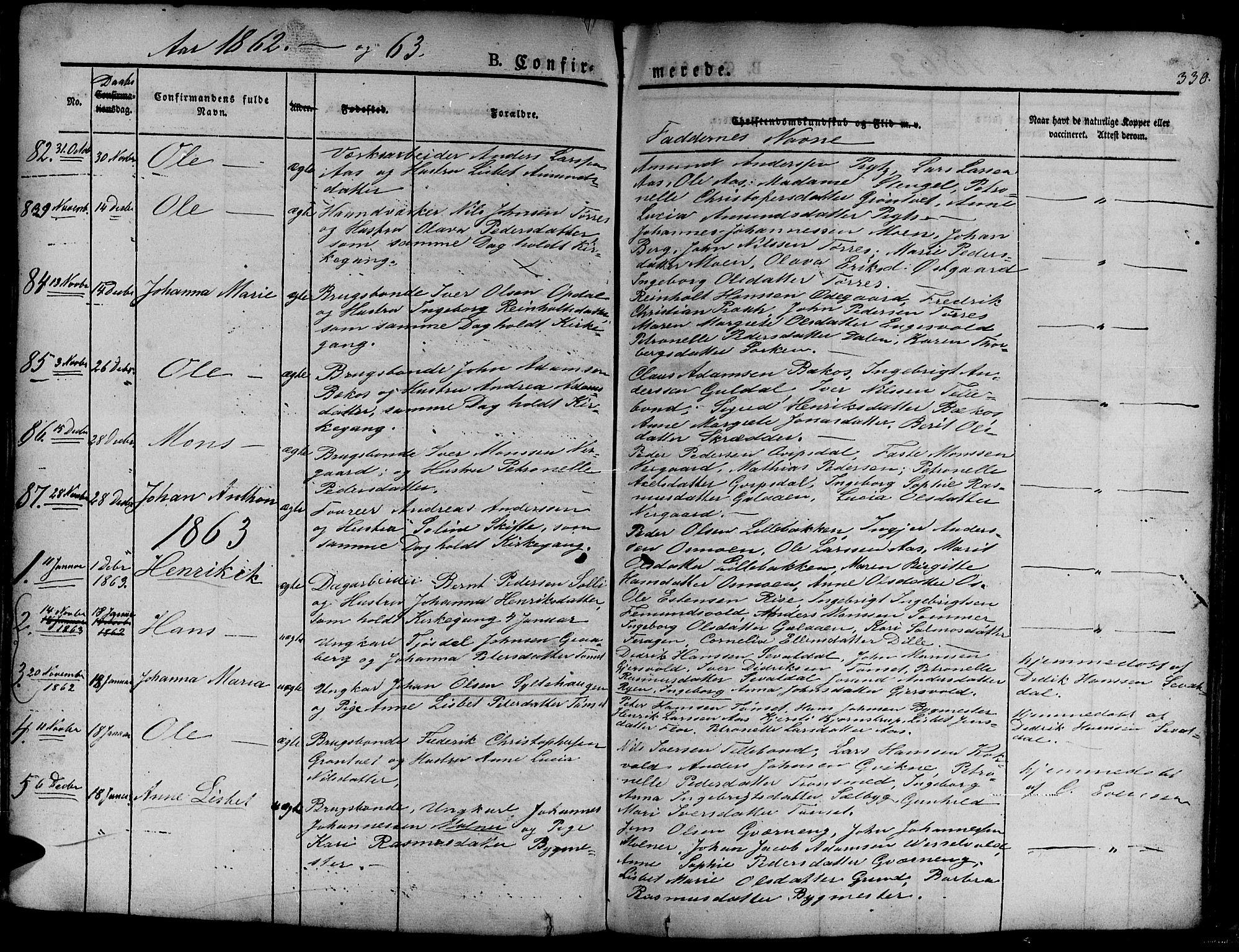 SAT, Ministerialprotokoller, klokkerbøker og fødselsregistre - Sør-Trøndelag, 681/L0938: Klokkerbok nr. 681C02, 1829-1879, s. 330