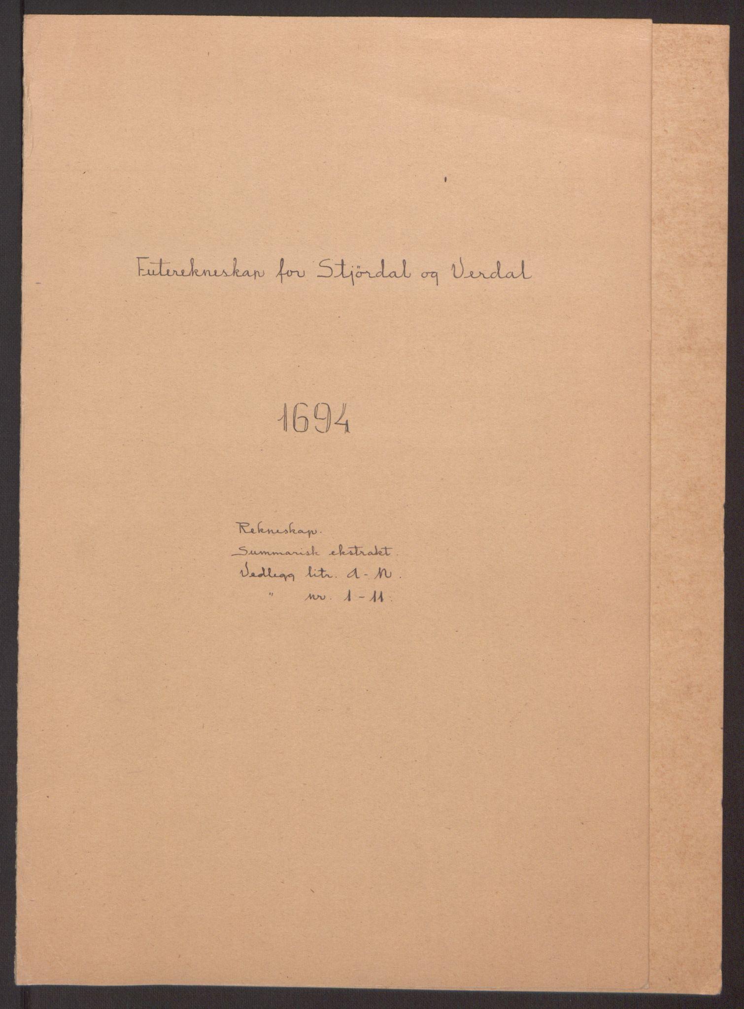 RA, Rentekammeret inntil 1814, Reviderte regnskaper, Fogderegnskap, R62/L4186: Fogderegnskap Stjørdal og Verdal, 1693-1694, s. 139