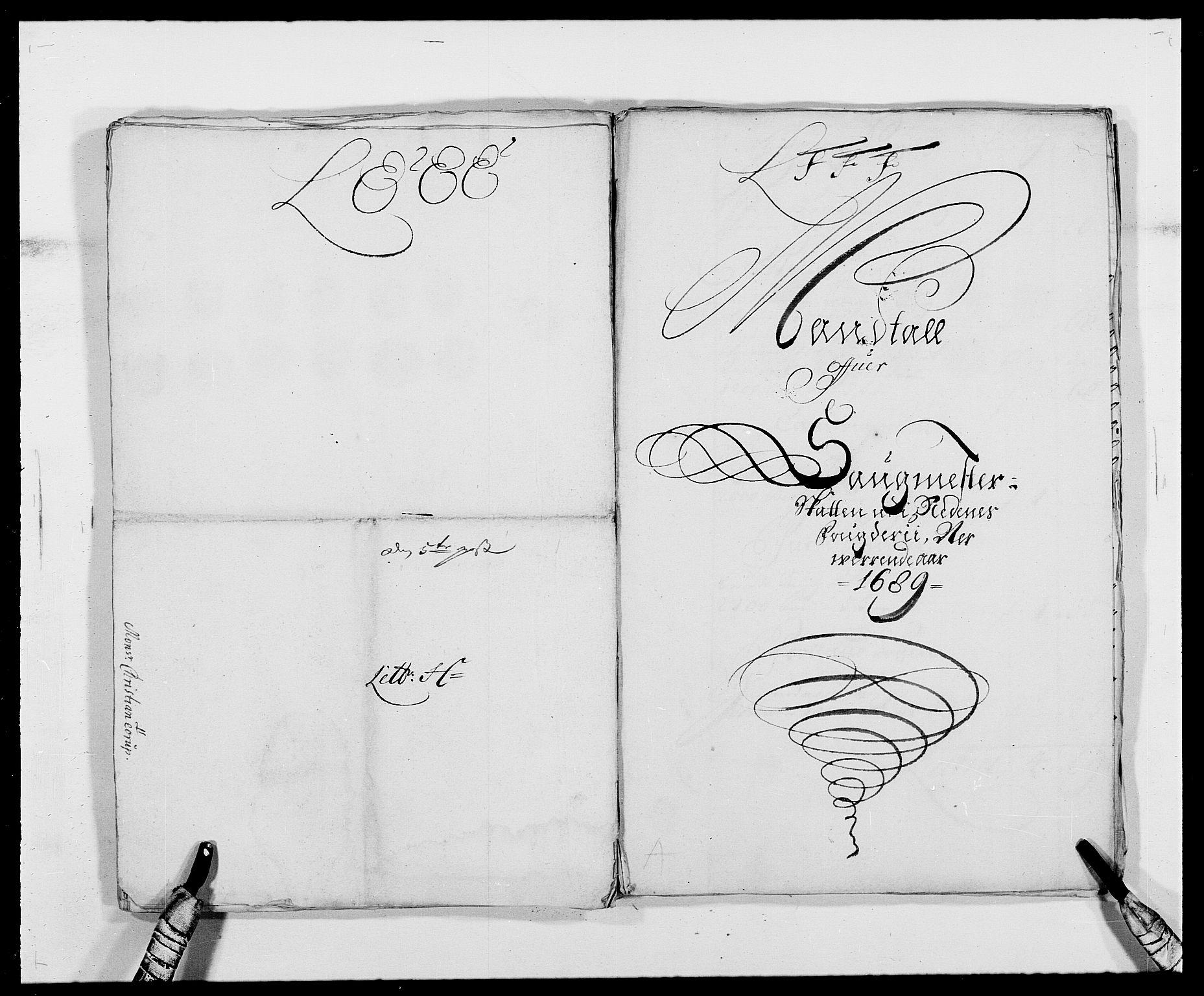 RA, Rentekammeret inntil 1814, Reviderte regnskaper, Fogderegnskap, R39/L2309: Fogderegnskap Nedenes, 1684-1689, s. 334