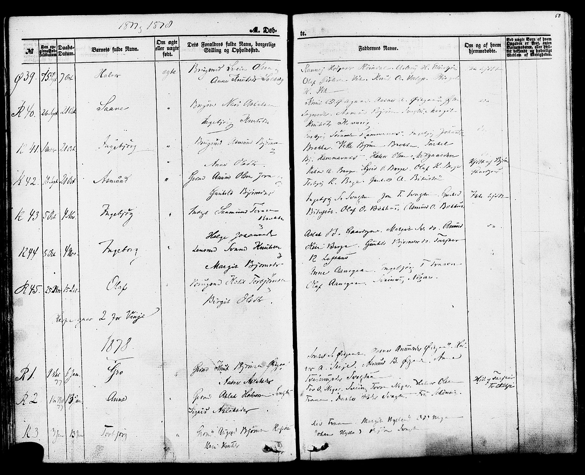SAKO, Rauland kirkebøker, F/Fa/L0003: Ministerialbok nr. 3, 1859-1886, s. 50