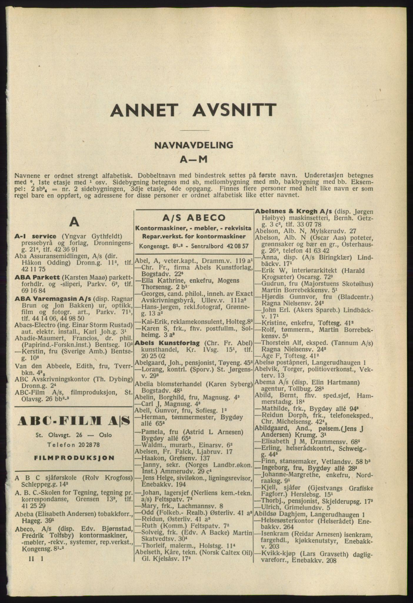 RA, Oslo adressebok (publikasjon)*, 1965-1966, s. 41