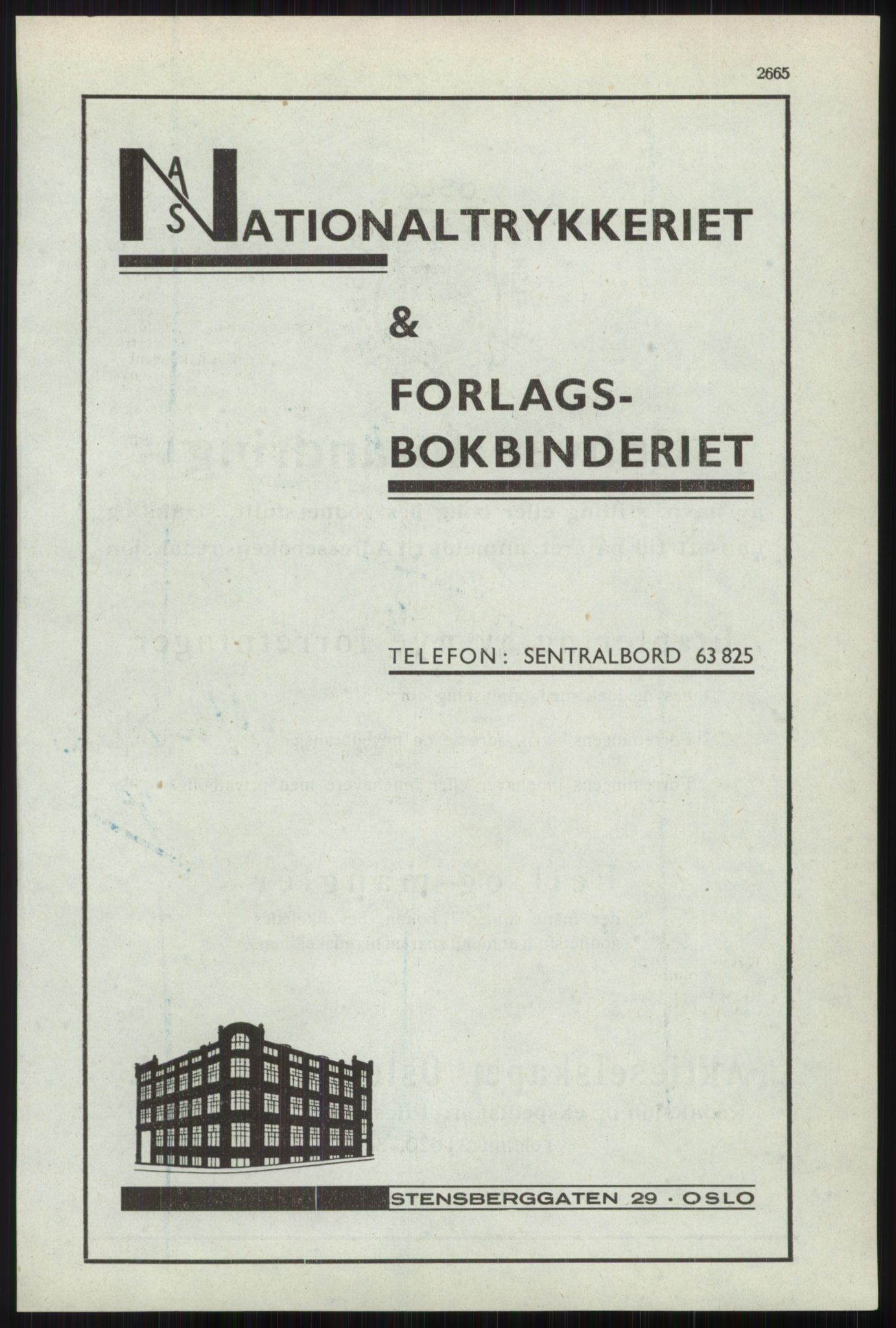 RA, Oslo adressebok (publikasjon)*, 1941, s. 2665
