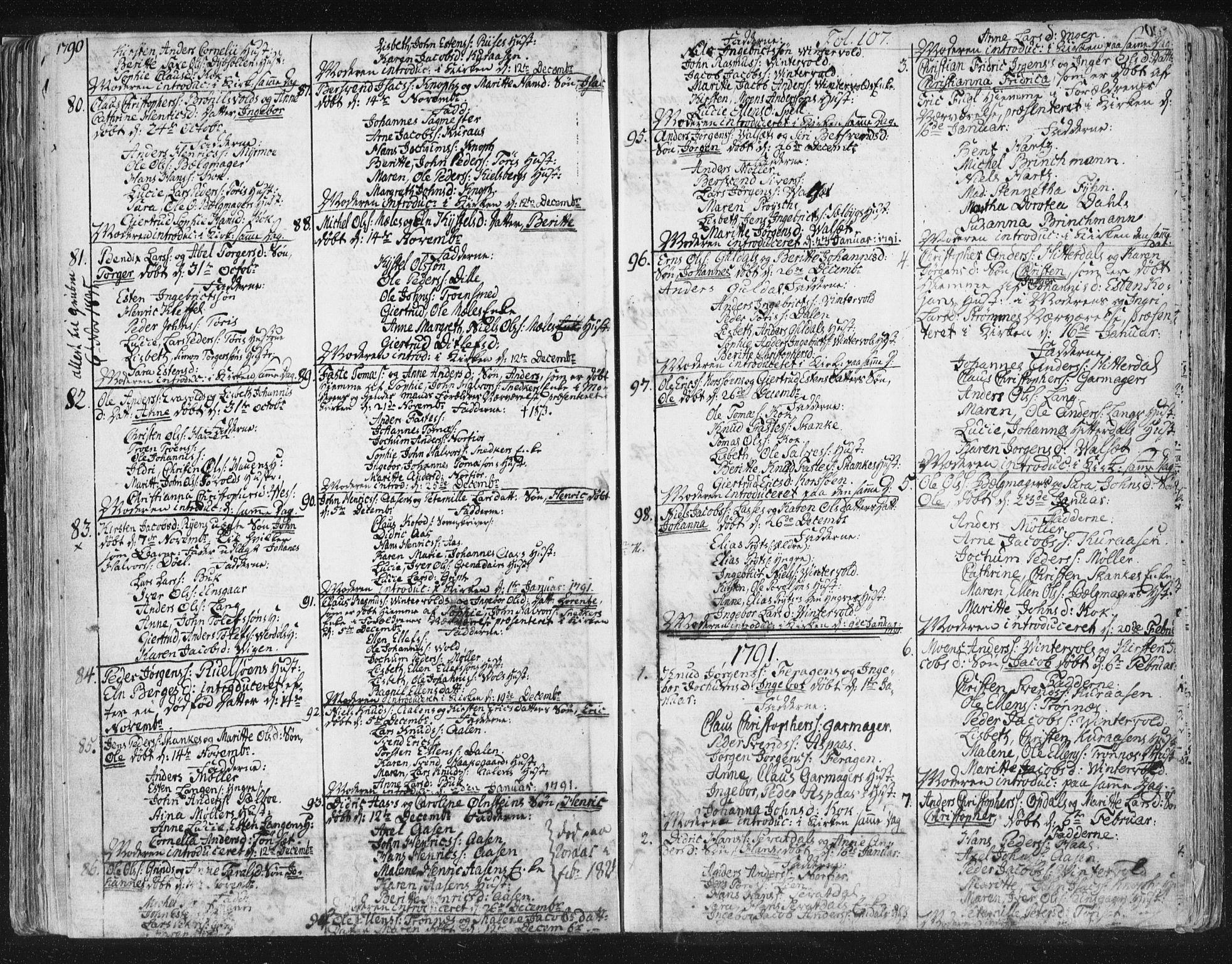 SAT, Ministerialprotokoller, klokkerbøker og fødselsregistre - Sør-Trøndelag, 681/L0926: Ministerialbok nr. 681A04, 1767-1797, s. 107
