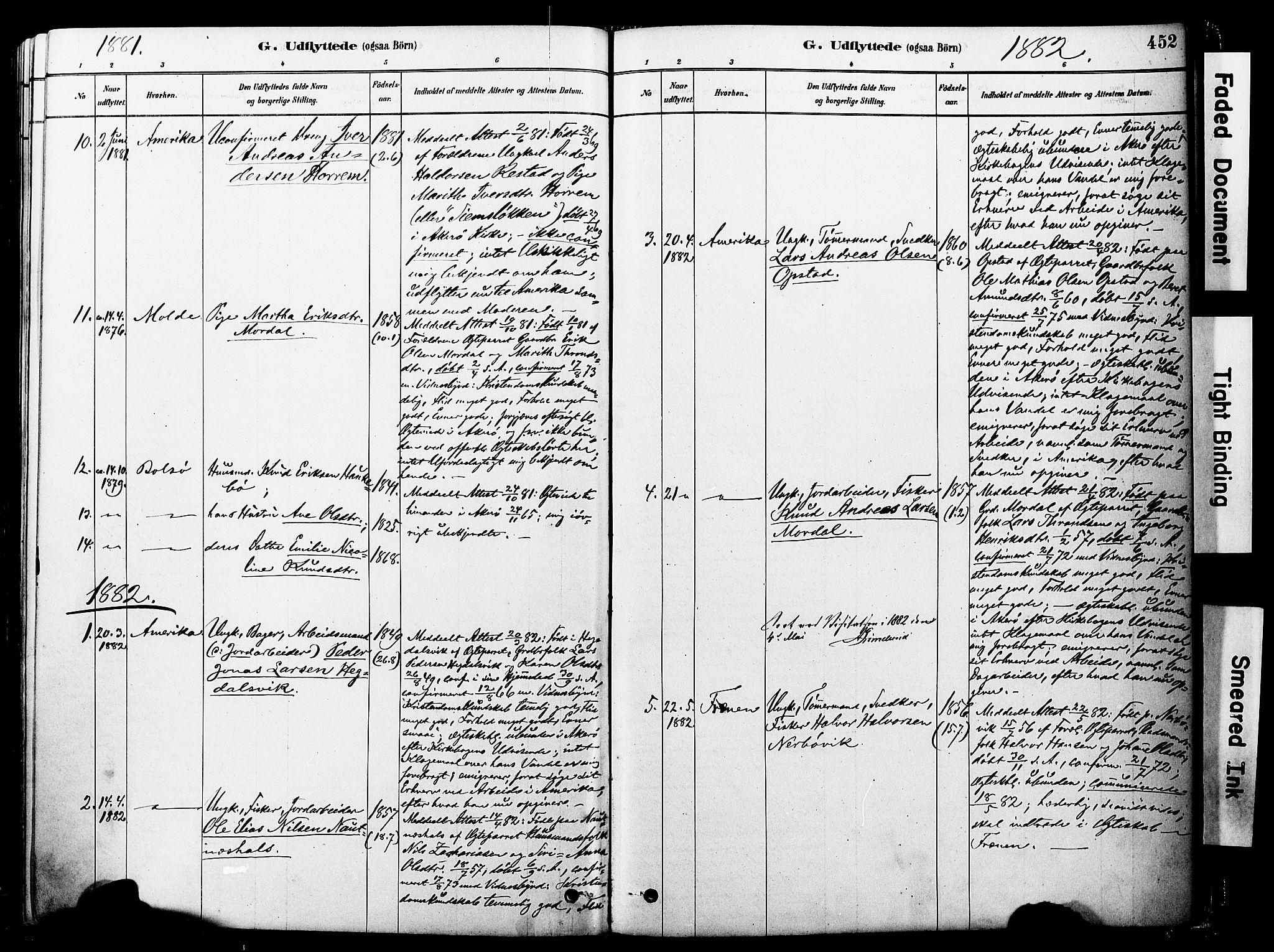 SAT, Ministerialprotokoller, klokkerbøker og fødselsregistre - Møre og Romsdal, 560/L0721: Ministerialbok nr. 560A05, 1878-1917, s. 452