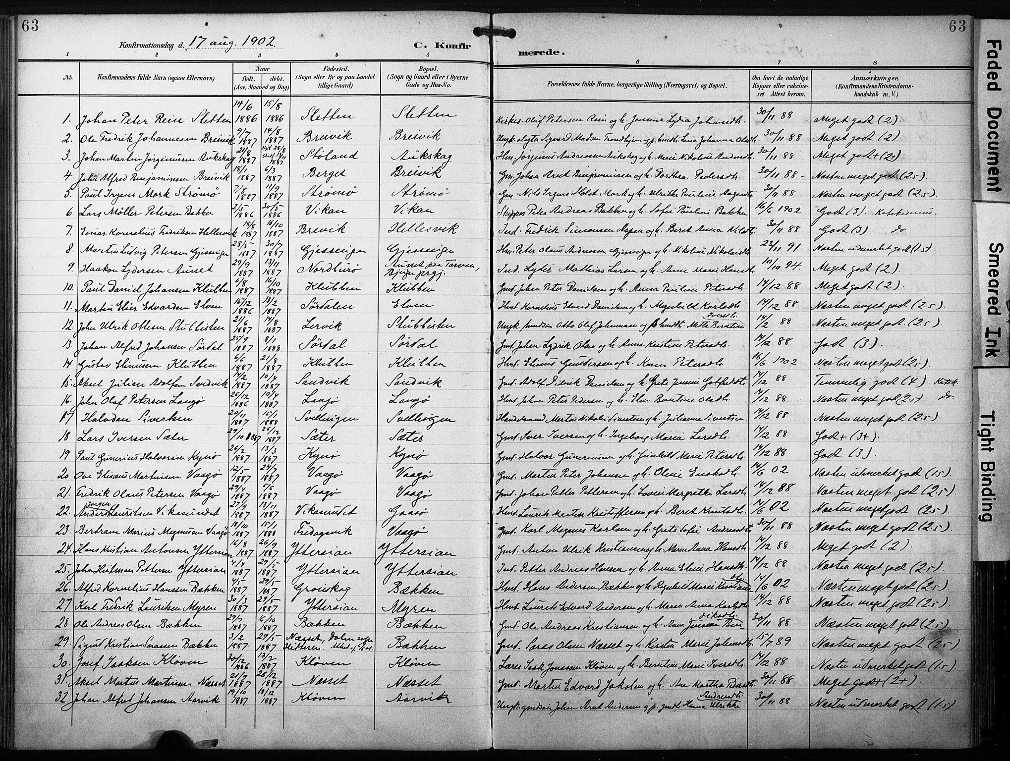 SAT, Ministerialprotokoller, klokkerbøker og fødselsregistre - Sør-Trøndelag, 640/L0580: Ministerialbok nr. 640A05, 1902-1910, s. 63