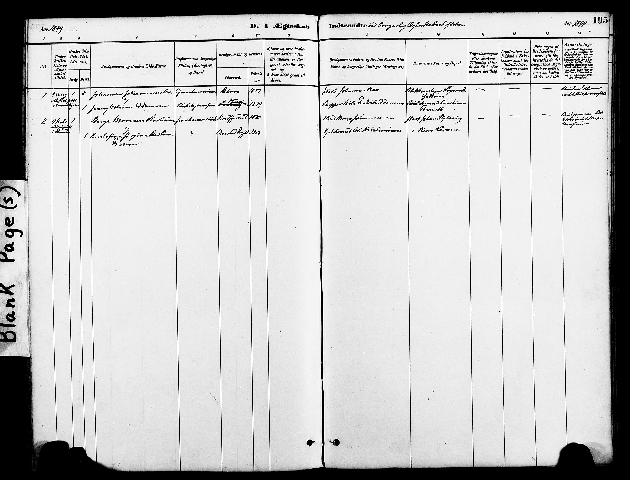 SAT, Ministerialprotokoller, klokkerbøker og fødselsregistre - Nord-Trøndelag, 712/L0100: Ministerialbok nr. 712A01, 1880-1900, s. 195