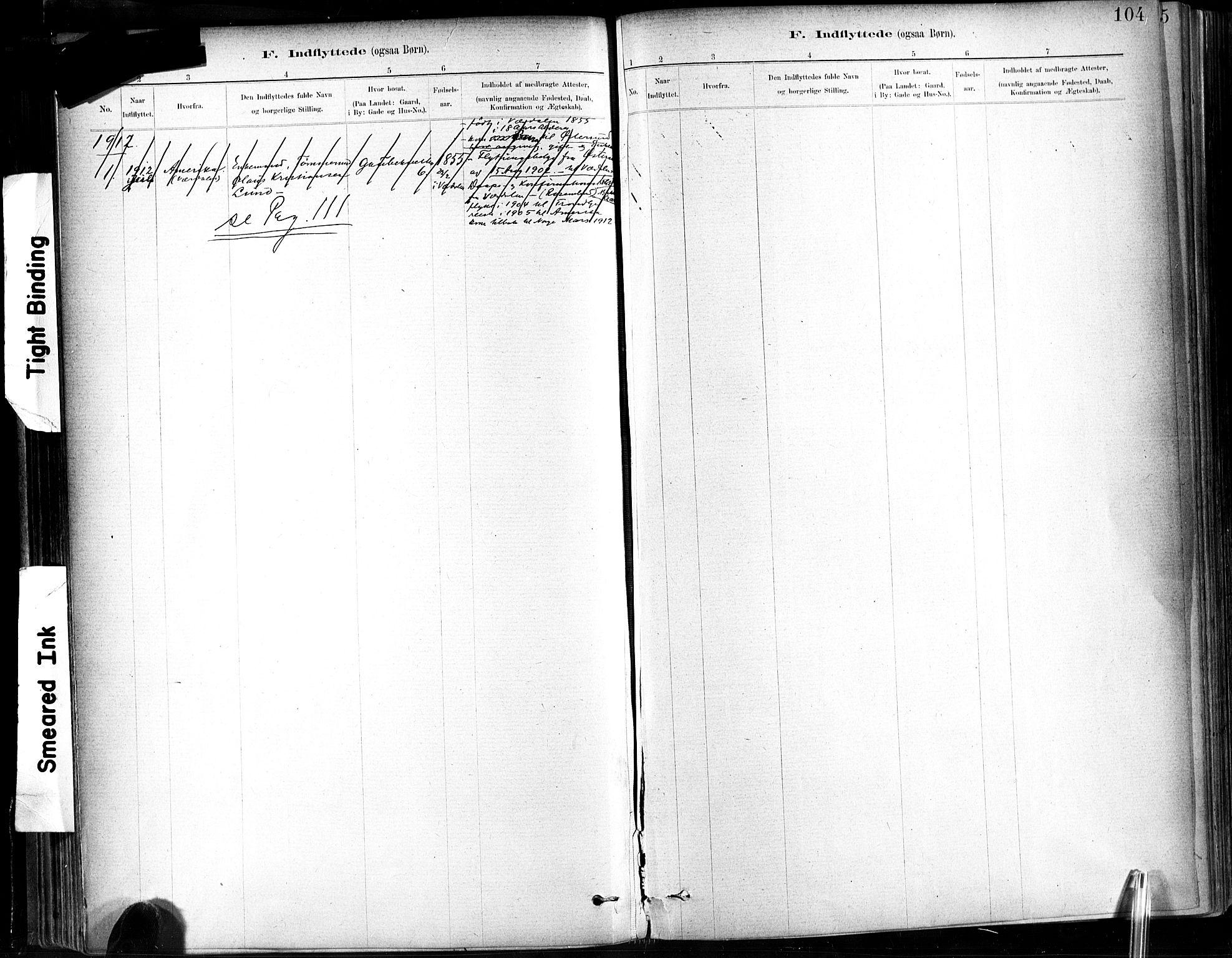SAT, Ministerialprotokoller, klokkerbøker og fødselsregistre - Sør-Trøndelag, 602/L0120: Ministerialbok nr. 602A18, 1880-1913, s. 104