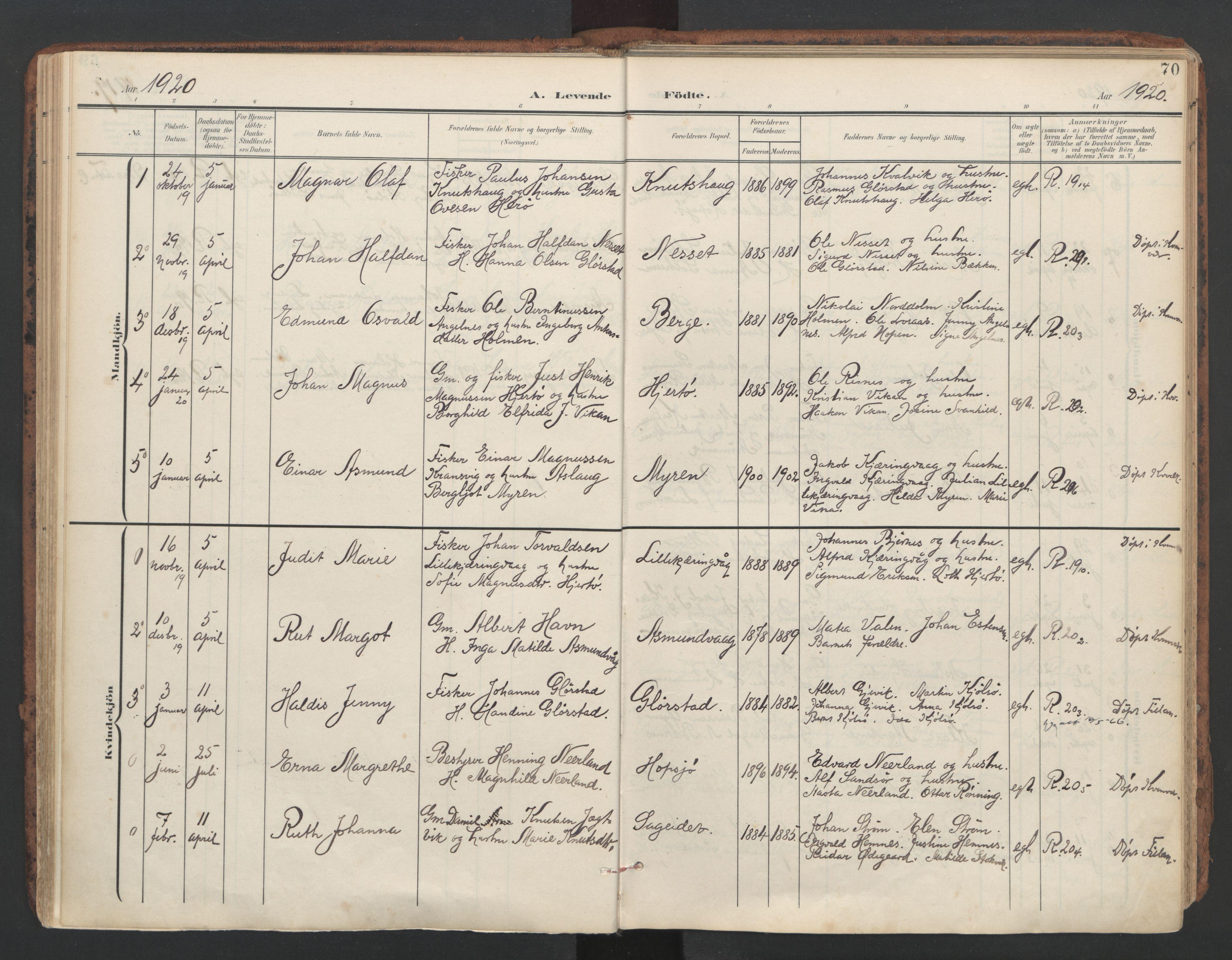 SAT, Ministerialprotokoller, klokkerbøker og fødselsregistre - Sør-Trøndelag, 634/L0537: Ministerialbok nr. 634A13, 1896-1922, s. 70