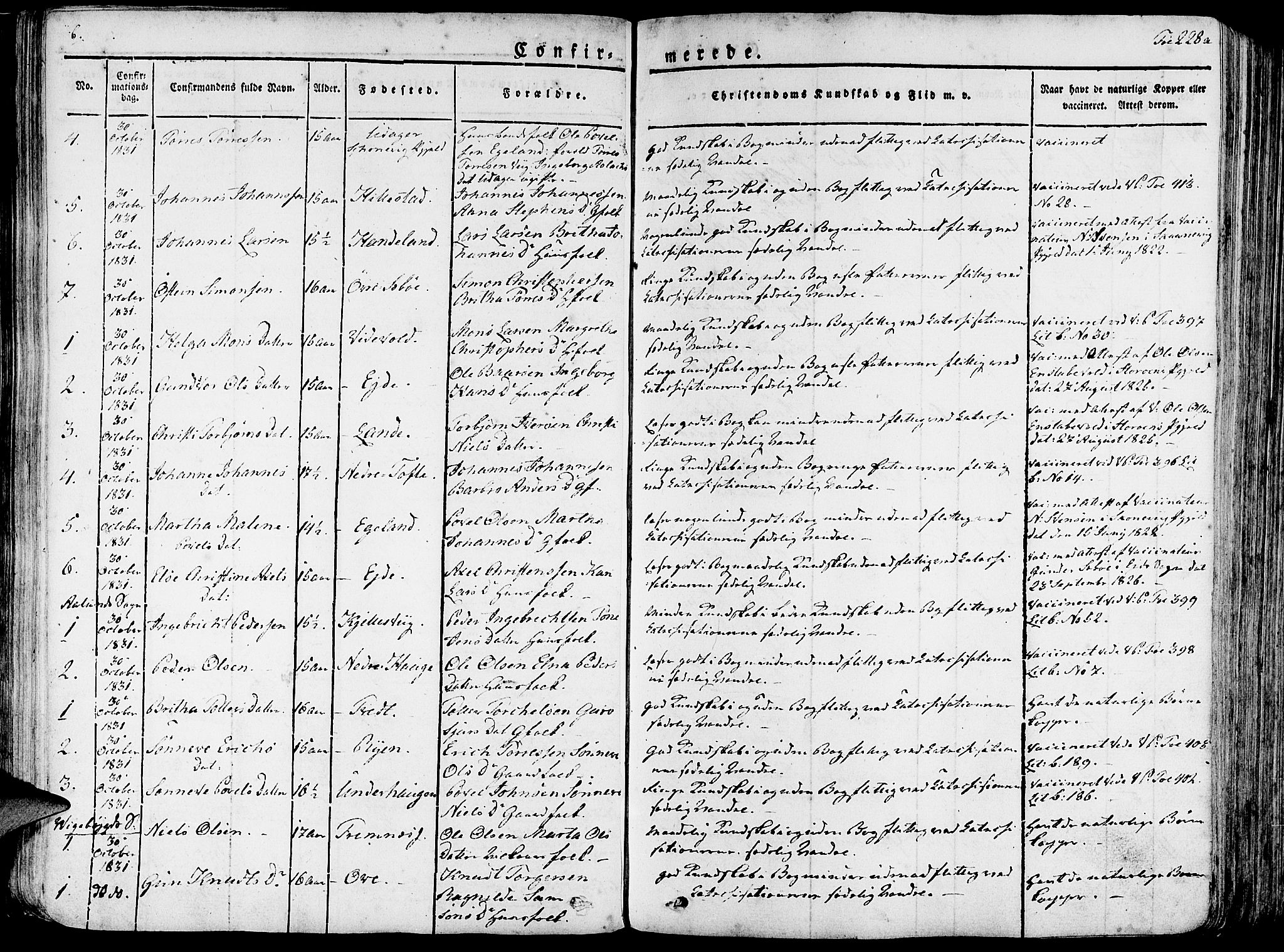 SAB, Fjelberg Sokneprestembete, H/Haa: Ministerialbok nr. A 5, 1822-1834, s. 228