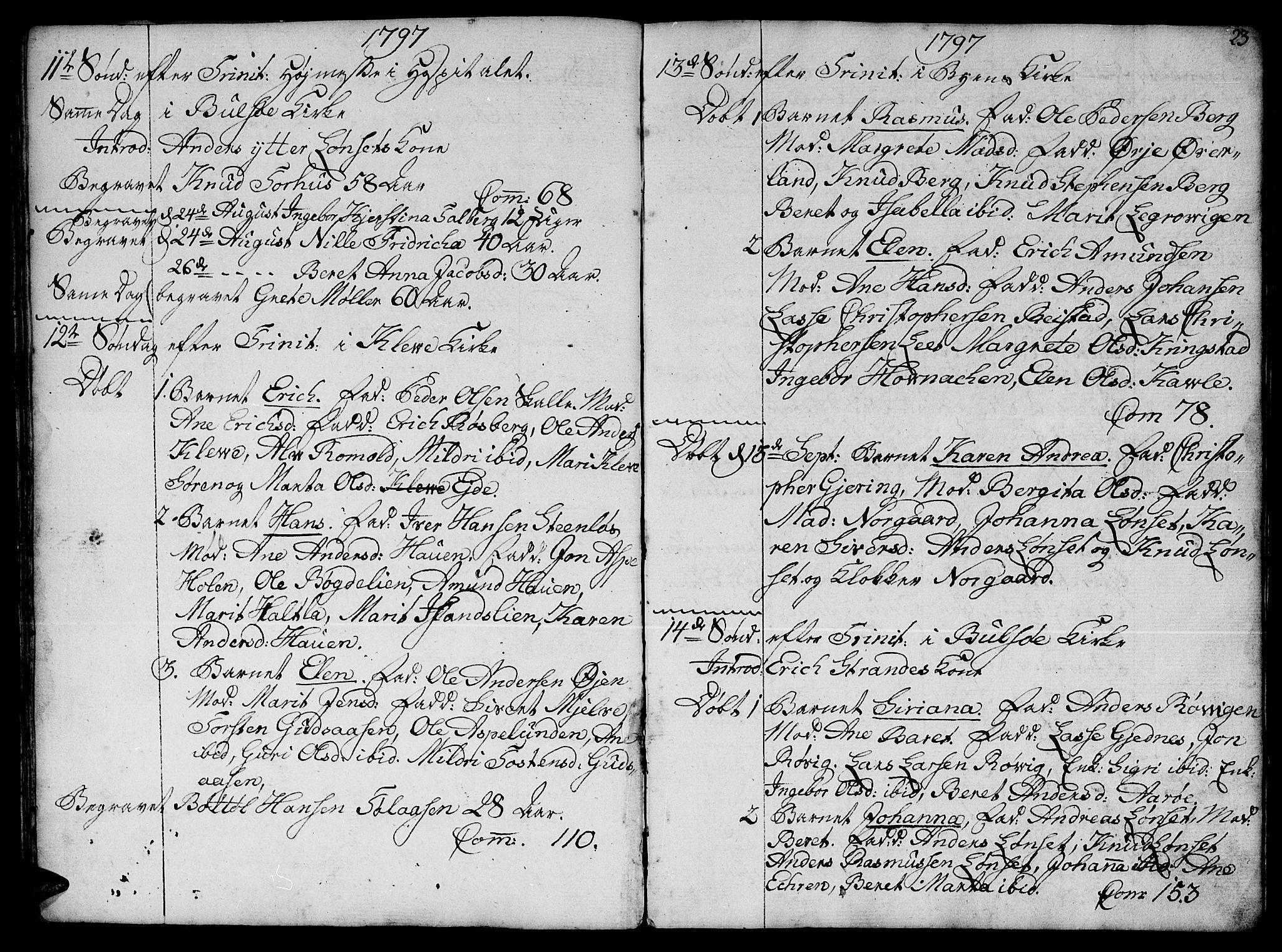 SAT, Ministerialprotokoller, klokkerbøker og fødselsregistre - Møre og Romsdal, 555/L0649: Ministerialbok nr. 555A02 /1, 1795-1821, s. 23