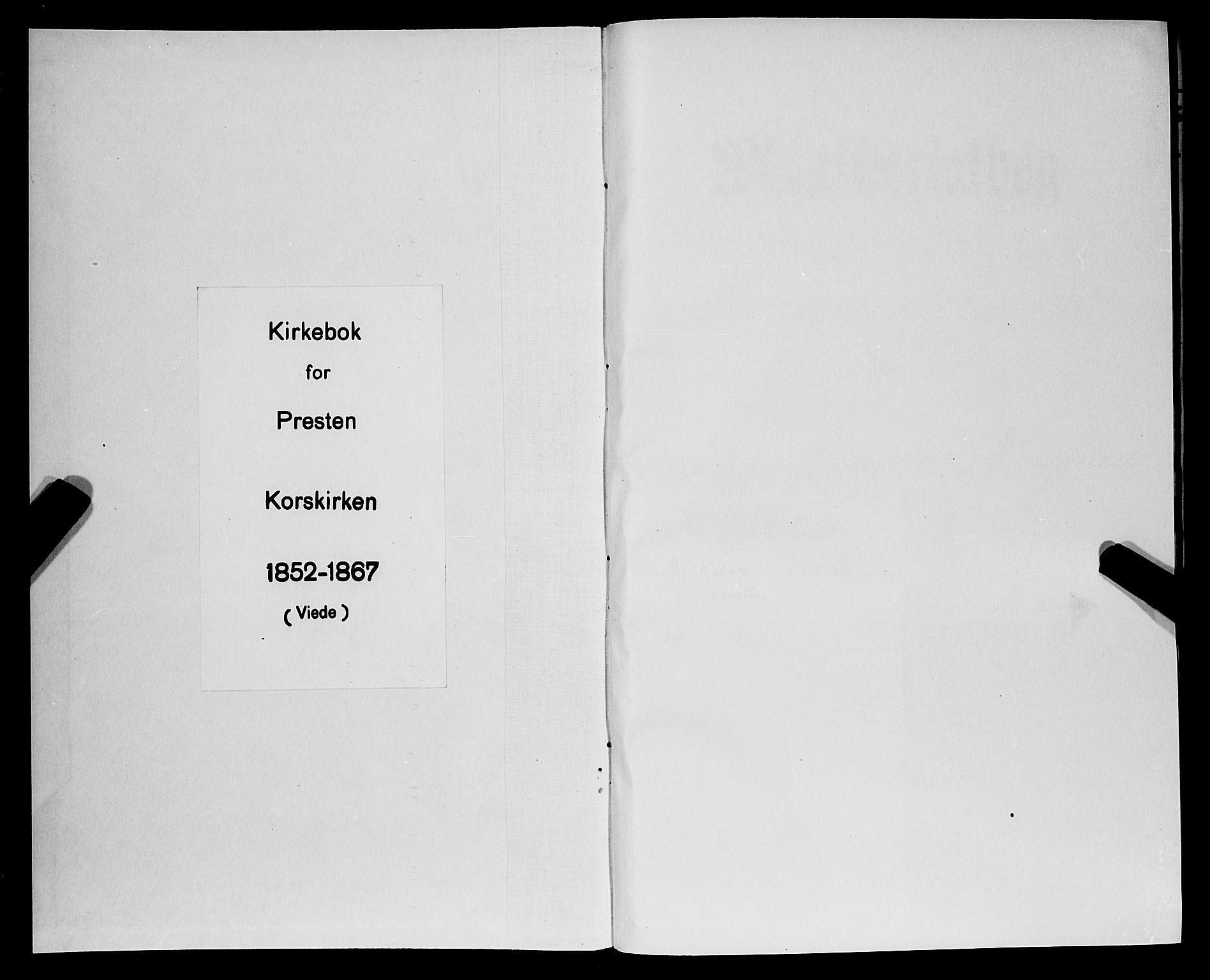 SAB, Korskirken Sokneprestembete, H/Haa/L0035: Ministerialbok nr. D 2, 1852-1867