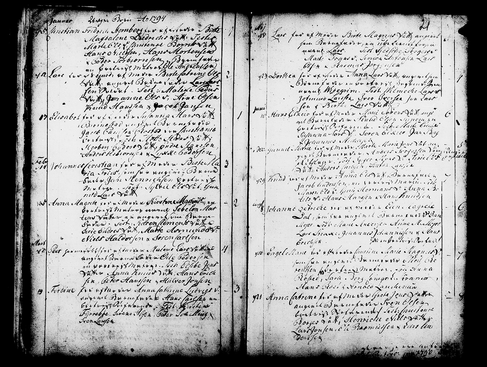 SAB, Domkirken Sokneprestembete, H/Haa/L0003: Ministerialbok nr. A 3, 1758-1789, s. 21
