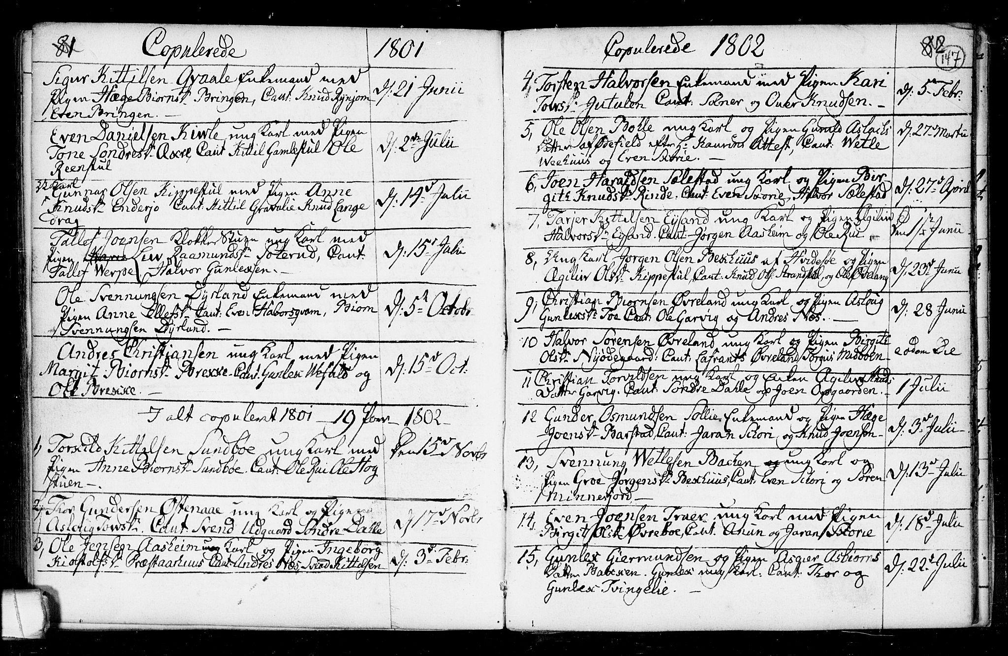 SAKO, Seljord kirkebøker, F/Fa/L0008: Ministerialbok nr. I 8, 1755-1814, s. 147
