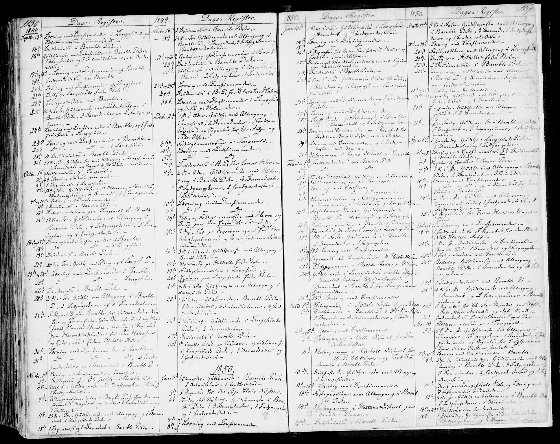 SAKO, Bamble kirkebøker, F/Fa/L0004: Ministerialbok nr. I 4, 1834-1853, s. 1136-1137
