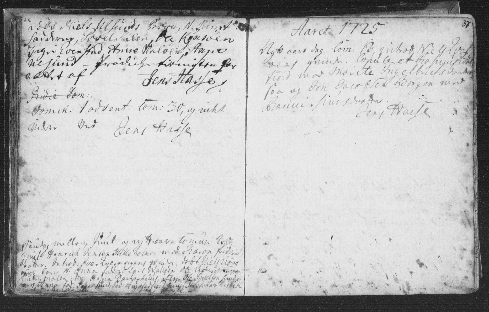SAT, Ministerialprotokoller, klokkerbøker og fødselsregistre - Nord-Trøndelag, 786/L0685: Ministerialbok nr. 786A01, 1710-1798, s. 37